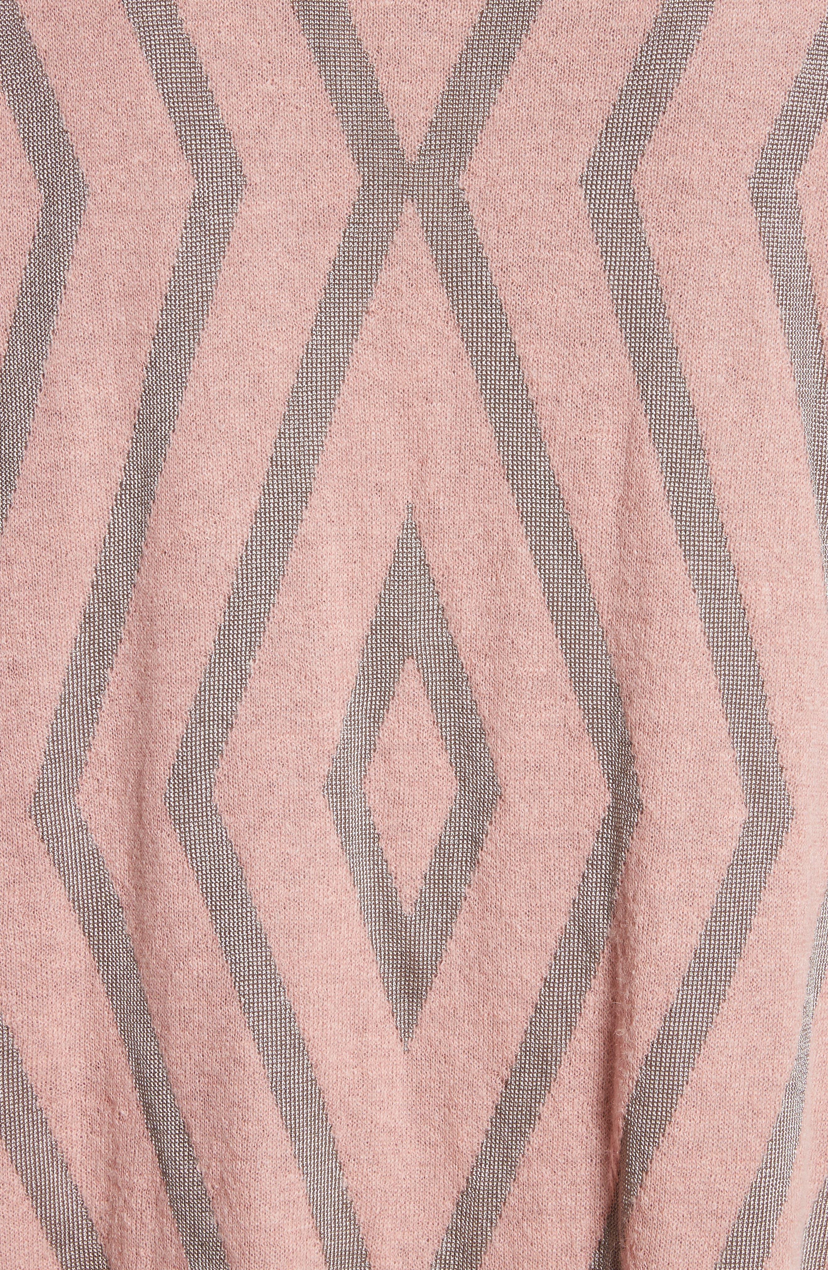 ST. JOHN COLLECTION,                             Matte Shine Geo Jacquard Knit Cardigan,                             Alternate thumbnail 5, color,                             680