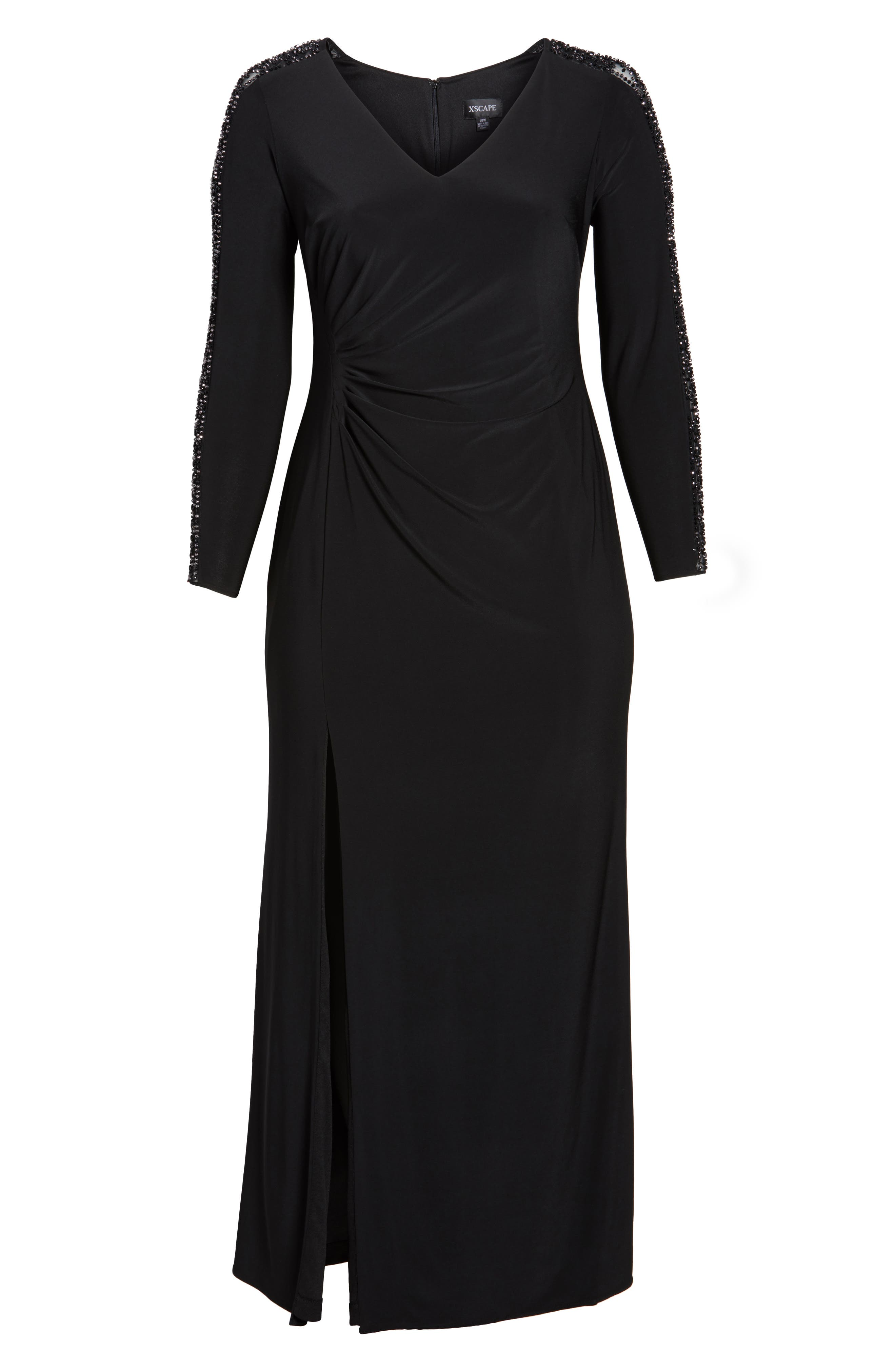 Embellished Jersey A-Line Gown,                             Alternate thumbnail 11, color,