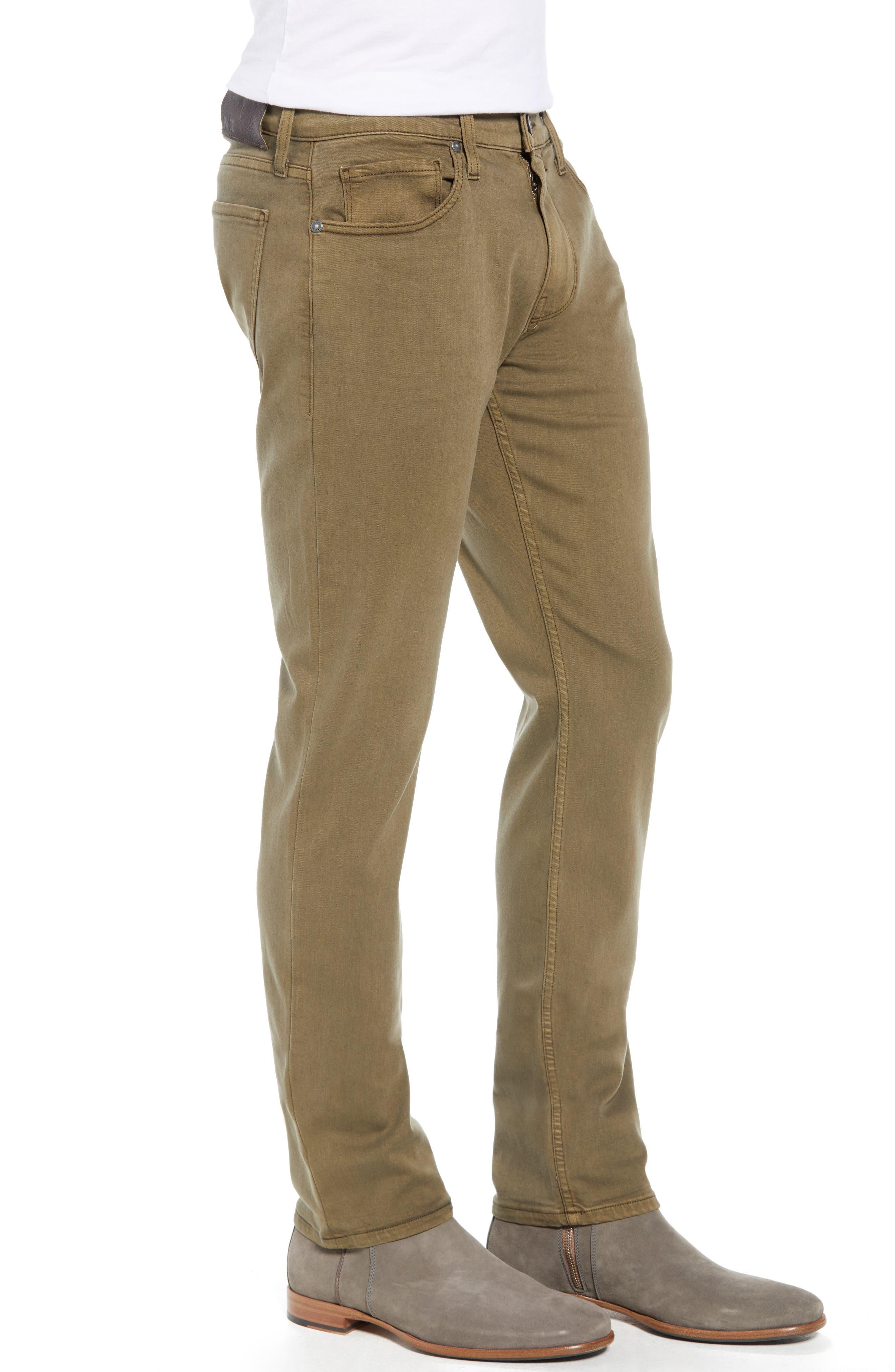 PAIGE,                             Transcend - Federal Slim Straight Leg Jeans,                             Alternate thumbnail 3, color,                             VINTAGE ARTICHOKE