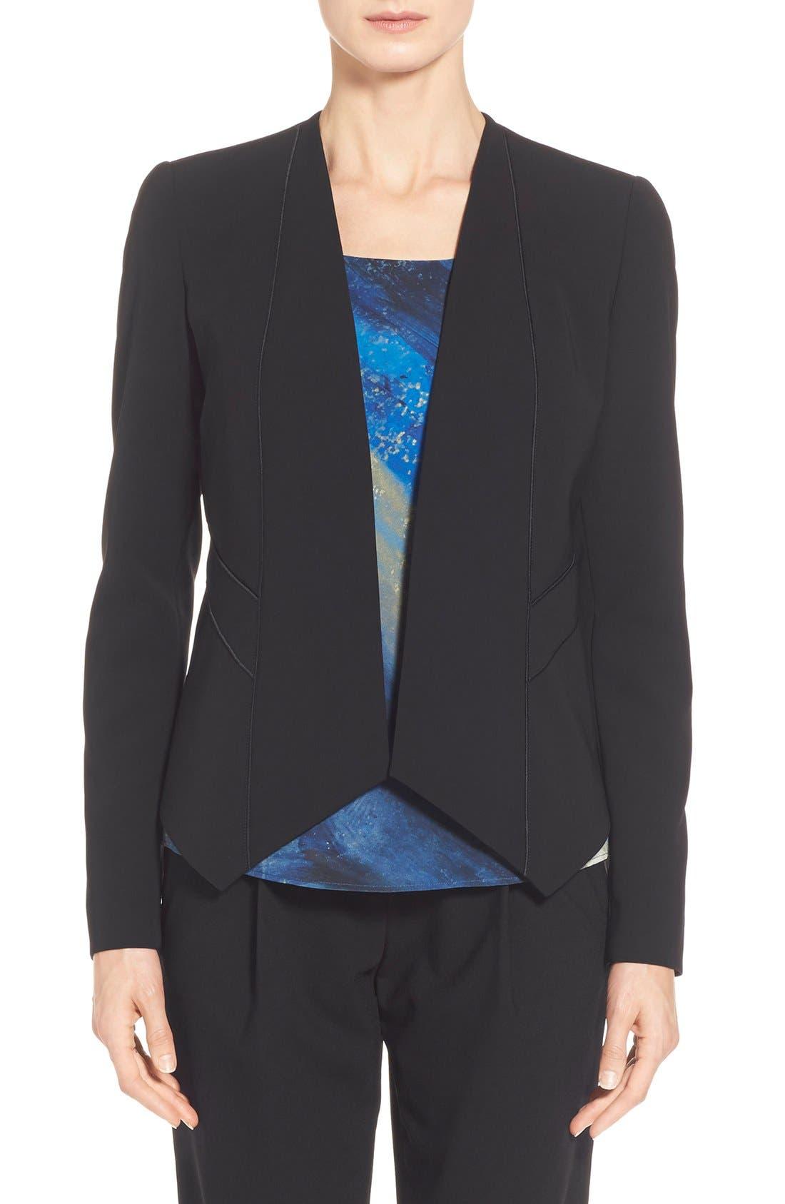 'Sukie' Sleek Tech Cloth Jacket,                             Main thumbnail 1, color,                             001