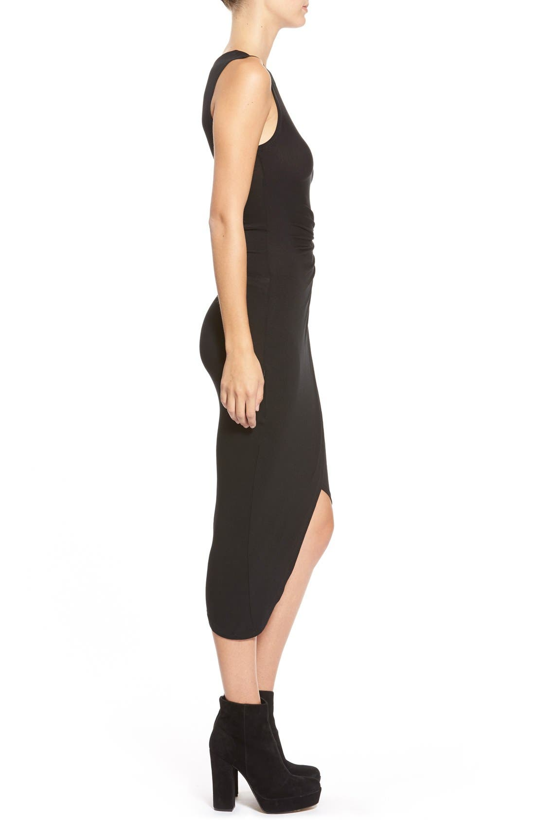 ASTR Knotted Body-Con Dress,                             Alternate thumbnail 4, color,                             001