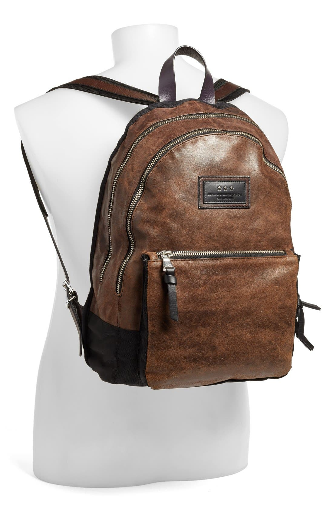 'Gibson' Suede Backpack,                             Alternate thumbnail 5, color,                             205