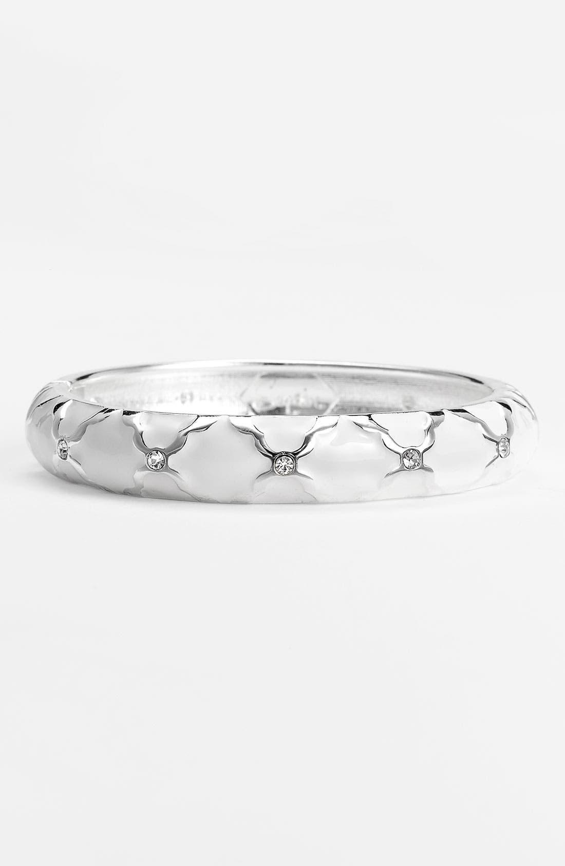 Medium Crystal Detail Hinged Bangle,                             Main thumbnail 5, color,