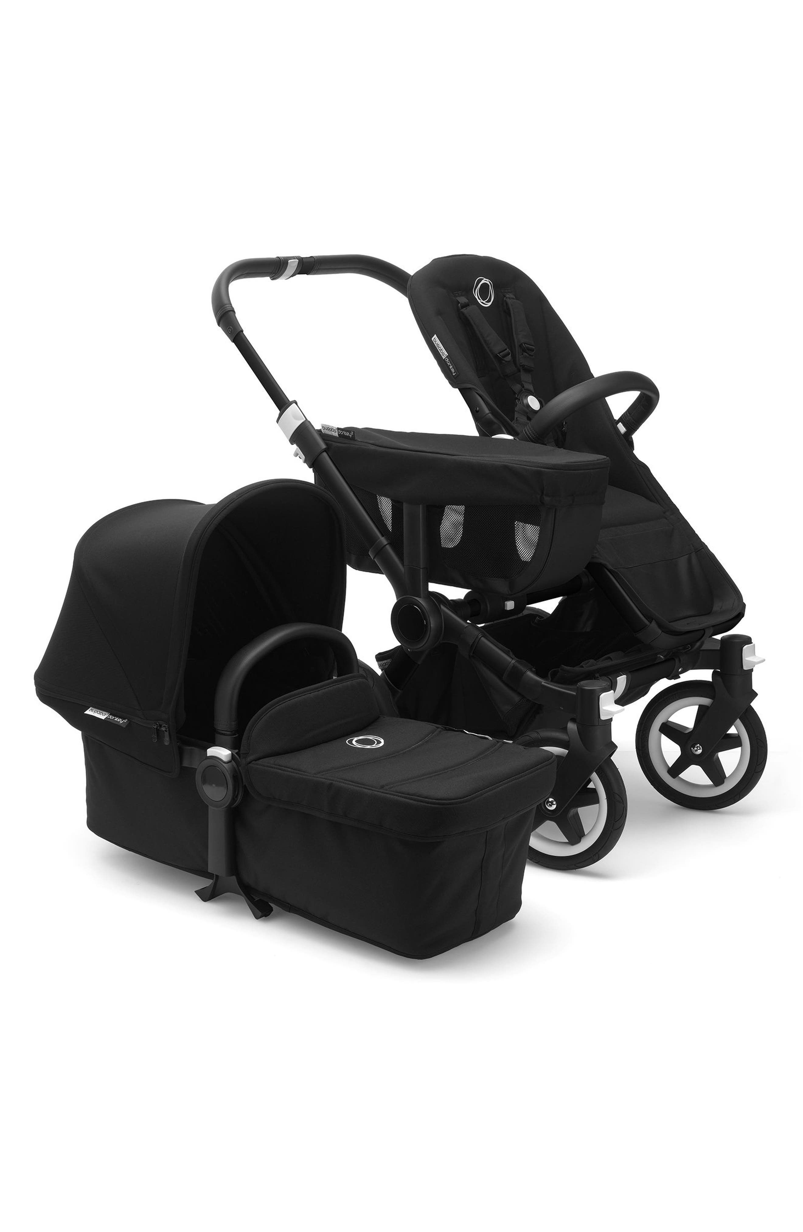 Donkey2 Mono Complete Stroller with Bassinet,                         Main,                         color, BLACK