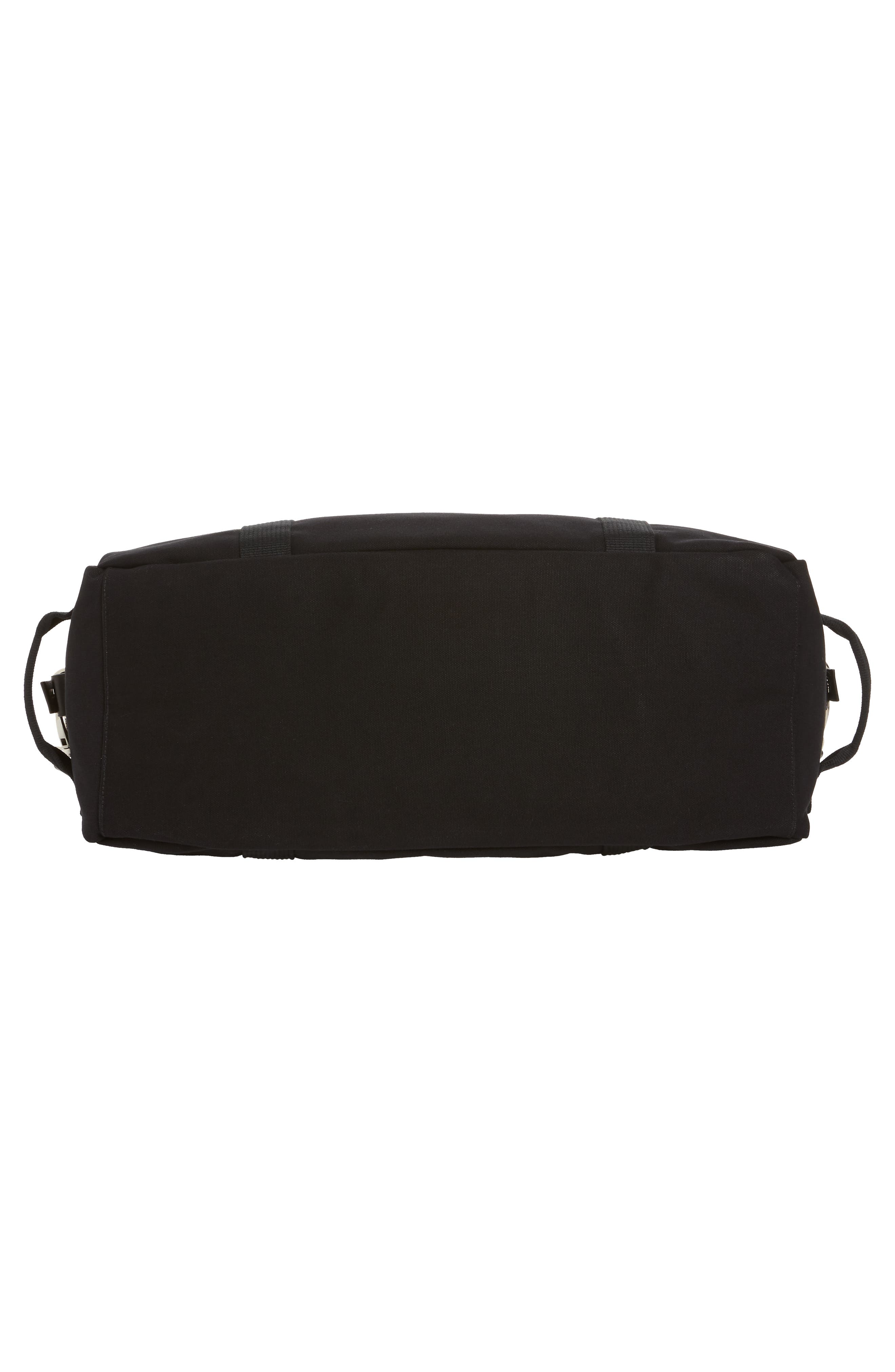 Norfolk Water Repellent Duffel Bag,                             Alternate thumbnail 6, color,                             BLACK