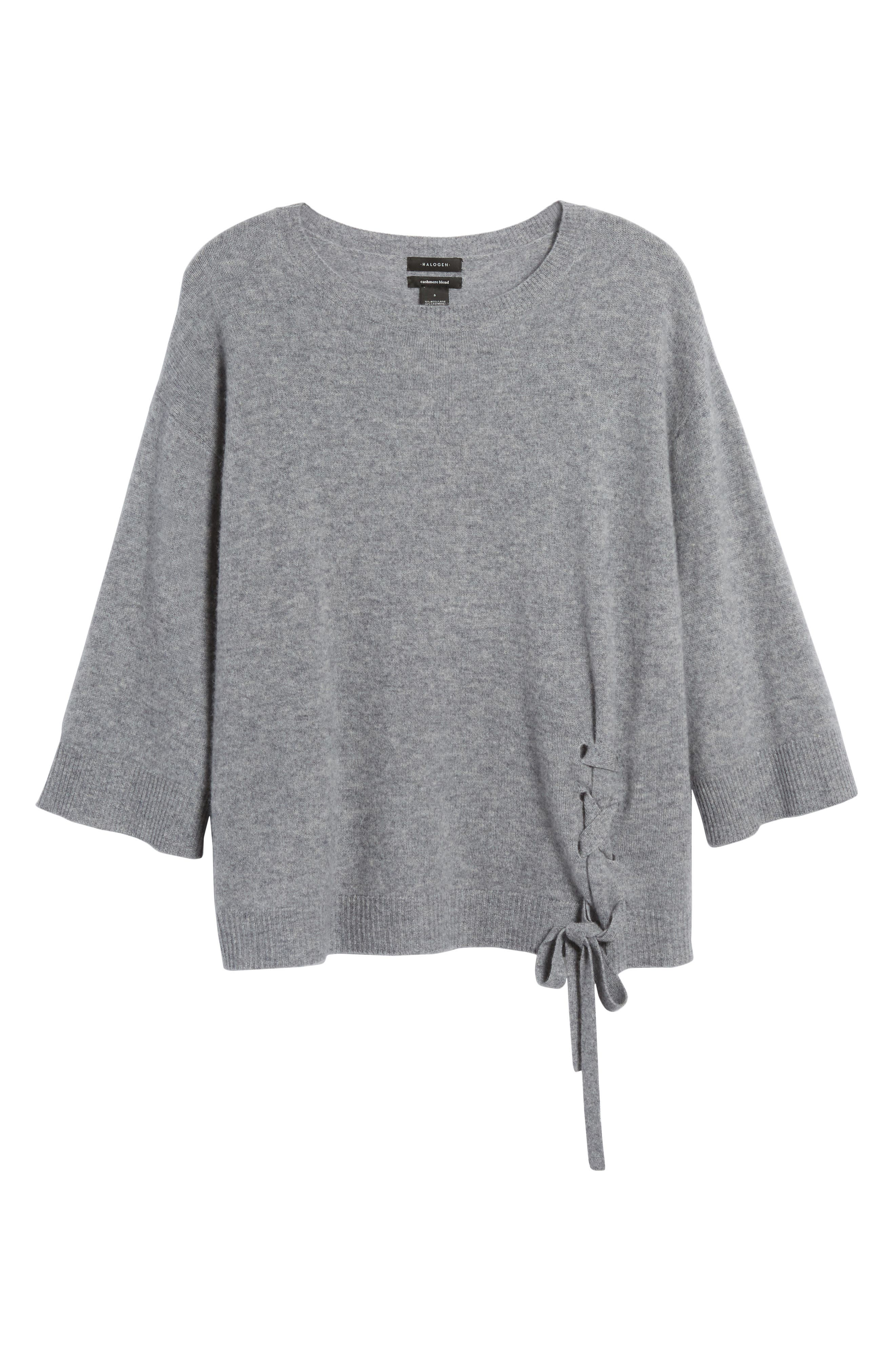 Side Tie Wool and Cashmere Sweater,                             Alternate thumbnail 32, color,