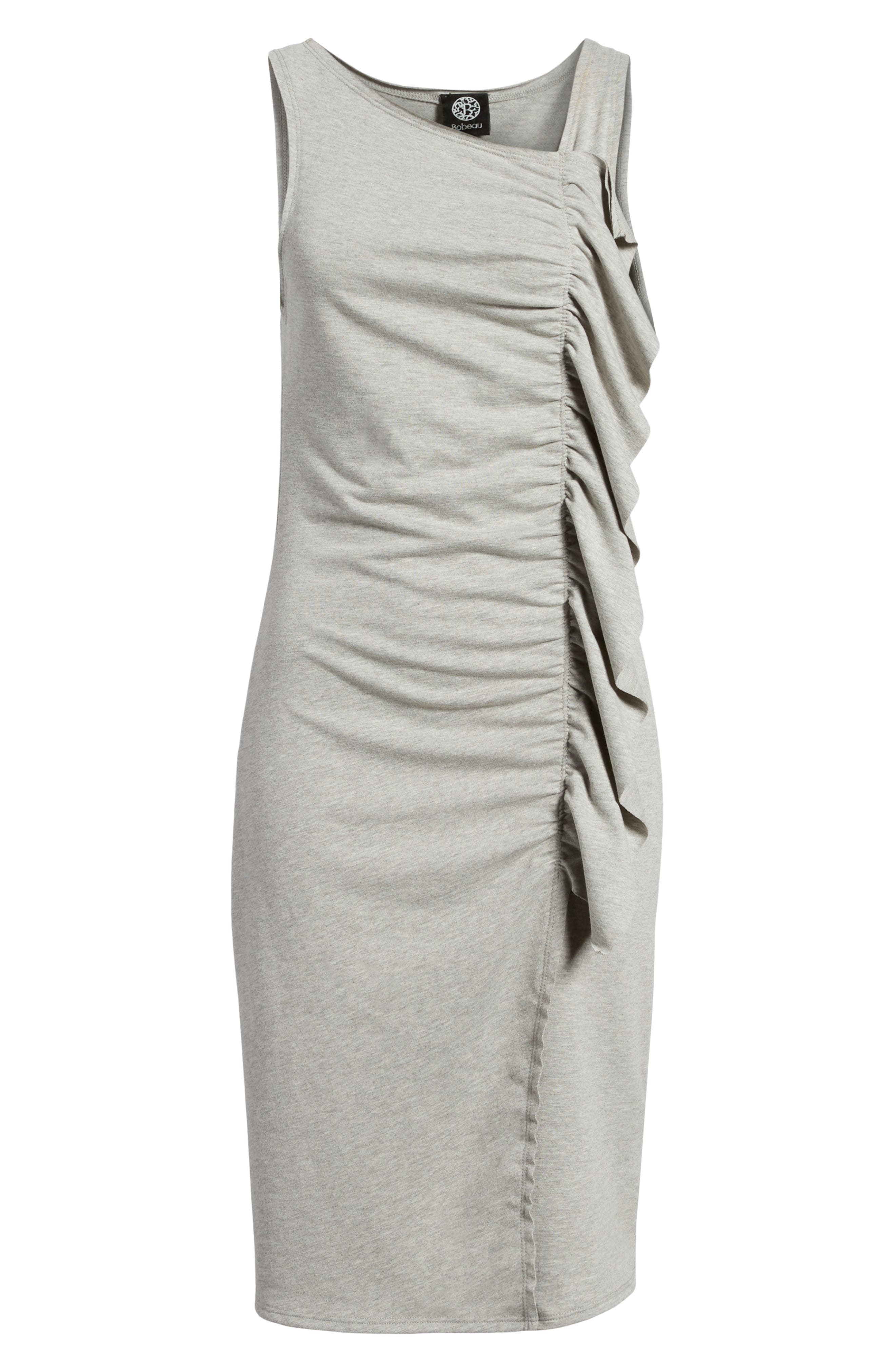 French Terry Ruffle Front Dress,                             Alternate thumbnail 17, color,
