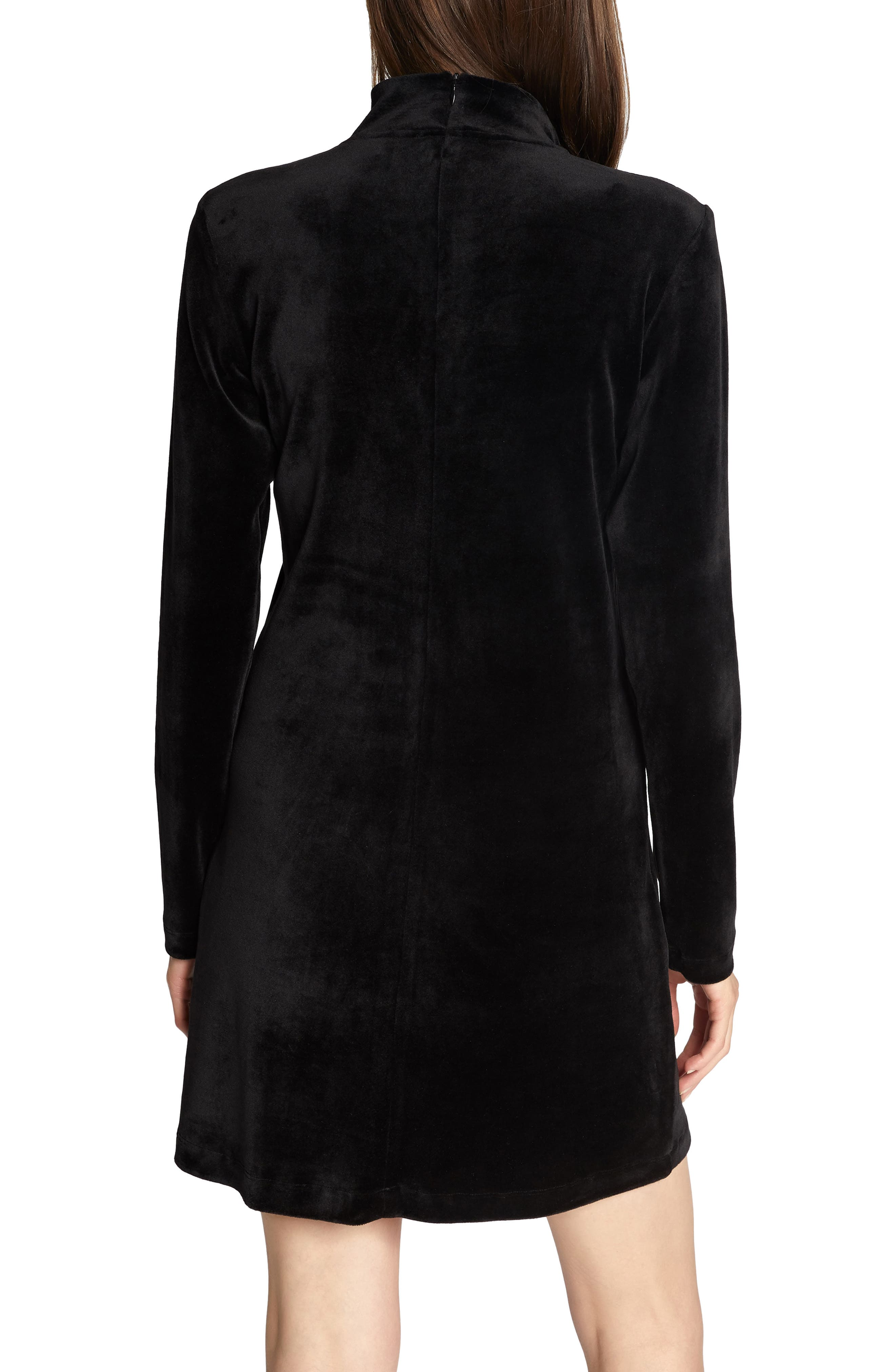 Endless Night Velour Dress,                             Alternate thumbnail 2, color,                             BLACK