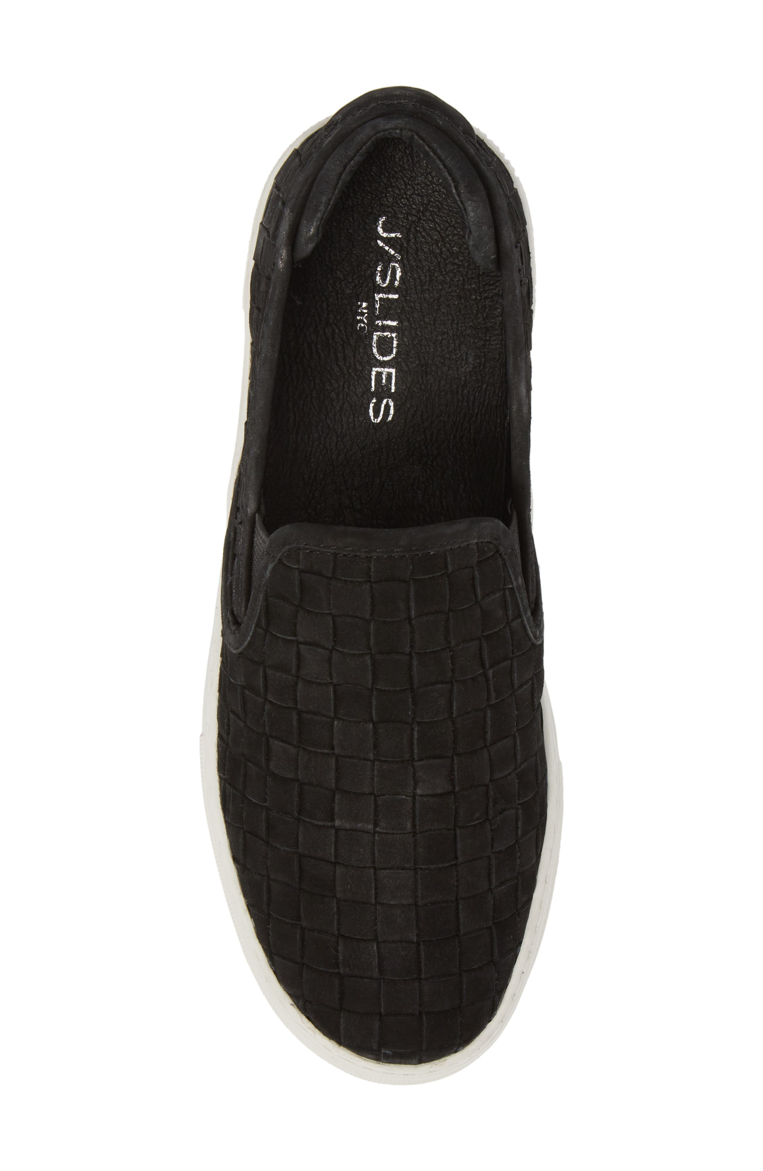 Proper Slip-On Sneaker,                             Alternate thumbnail 5, color,                             BLACK NUBUCK