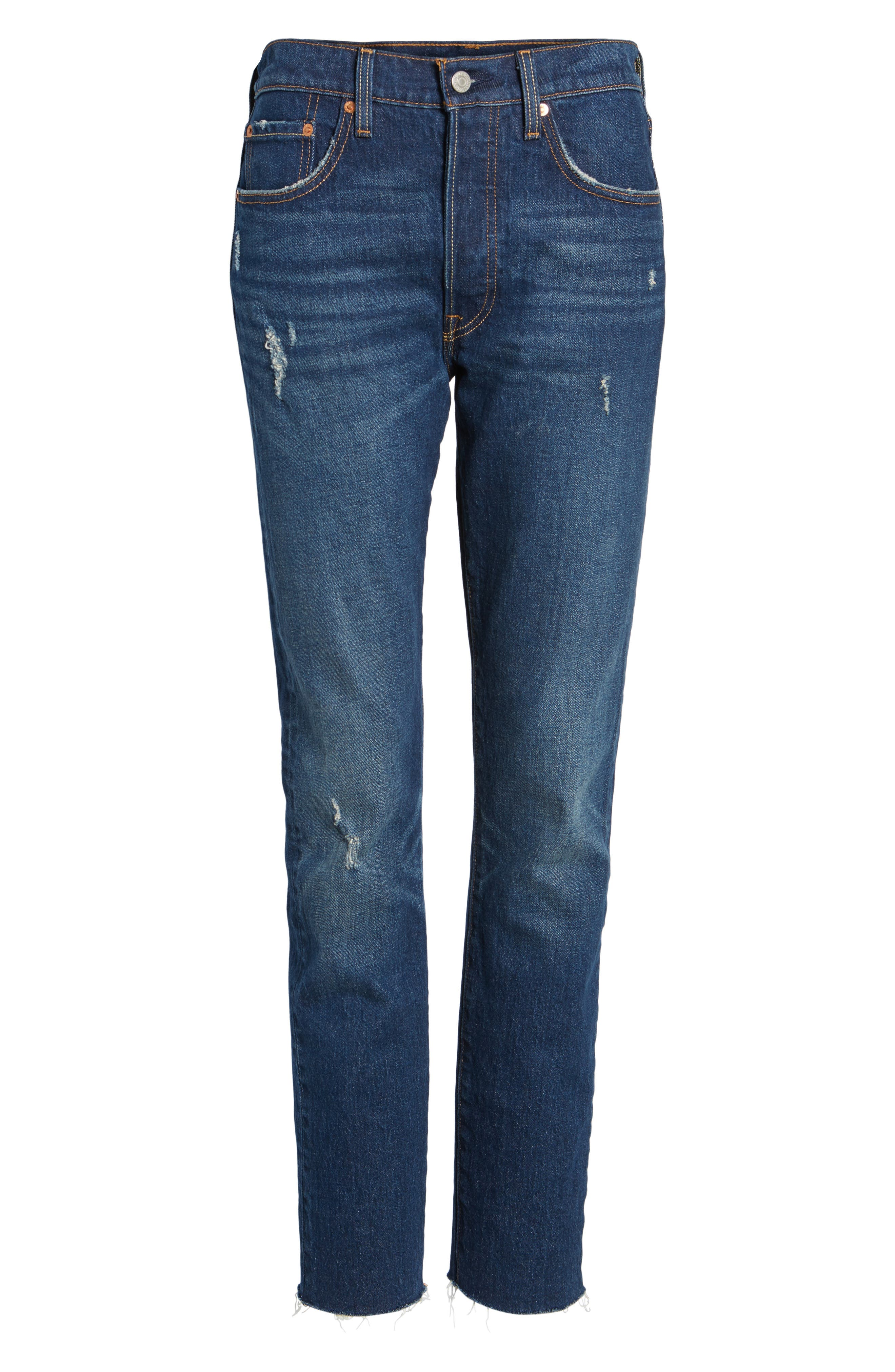 Levis<sup>®</sup> 501 Raw Hem Skinny Jeans,                             Alternate thumbnail 6, color,