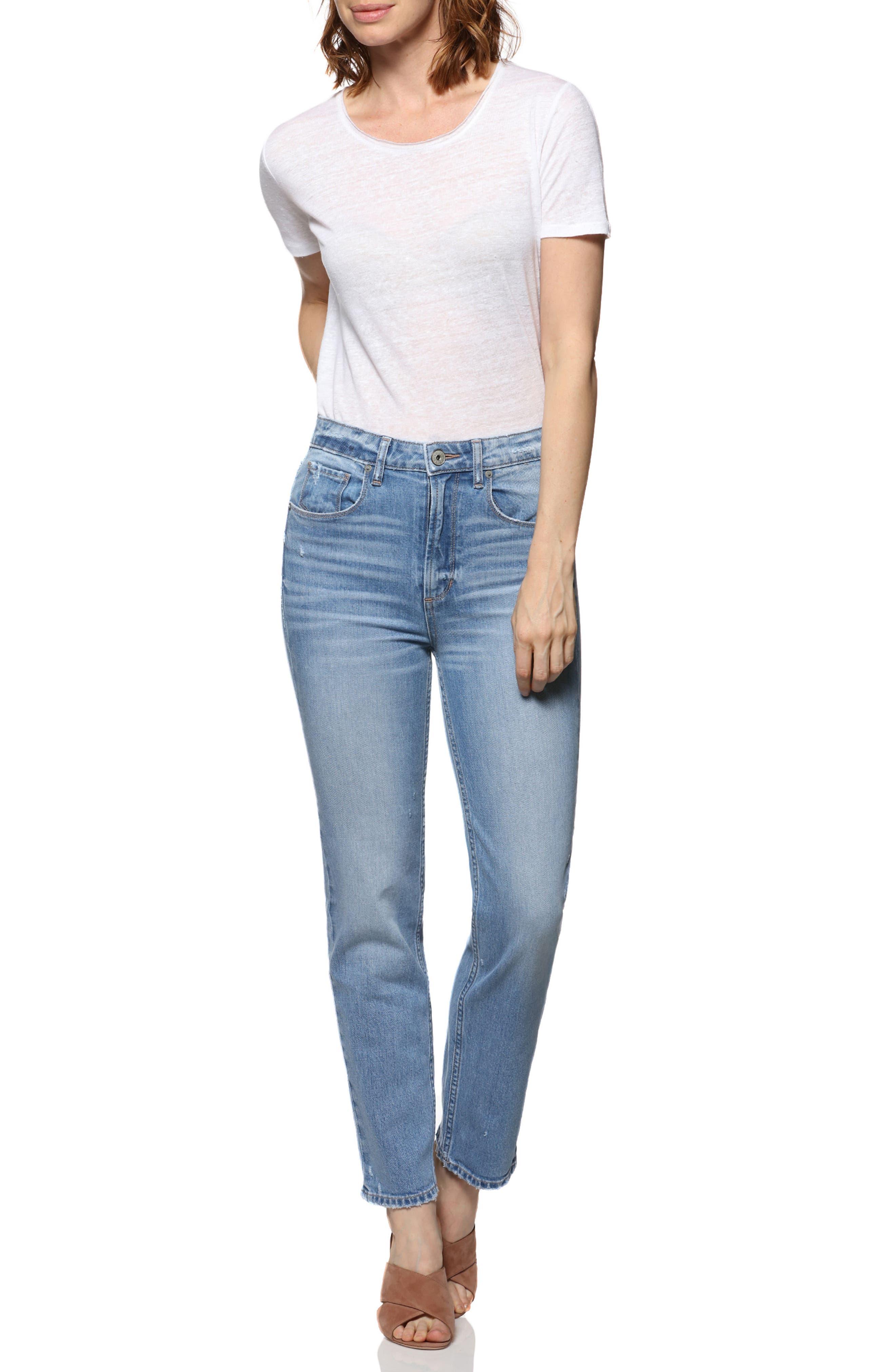 Vintage - Sarah High Waist Straight Leg Jeans,                             Alternate thumbnail 3, color,                             400