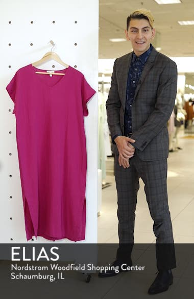 V-Neck Cotton Midi Dress, sales video thumbnail