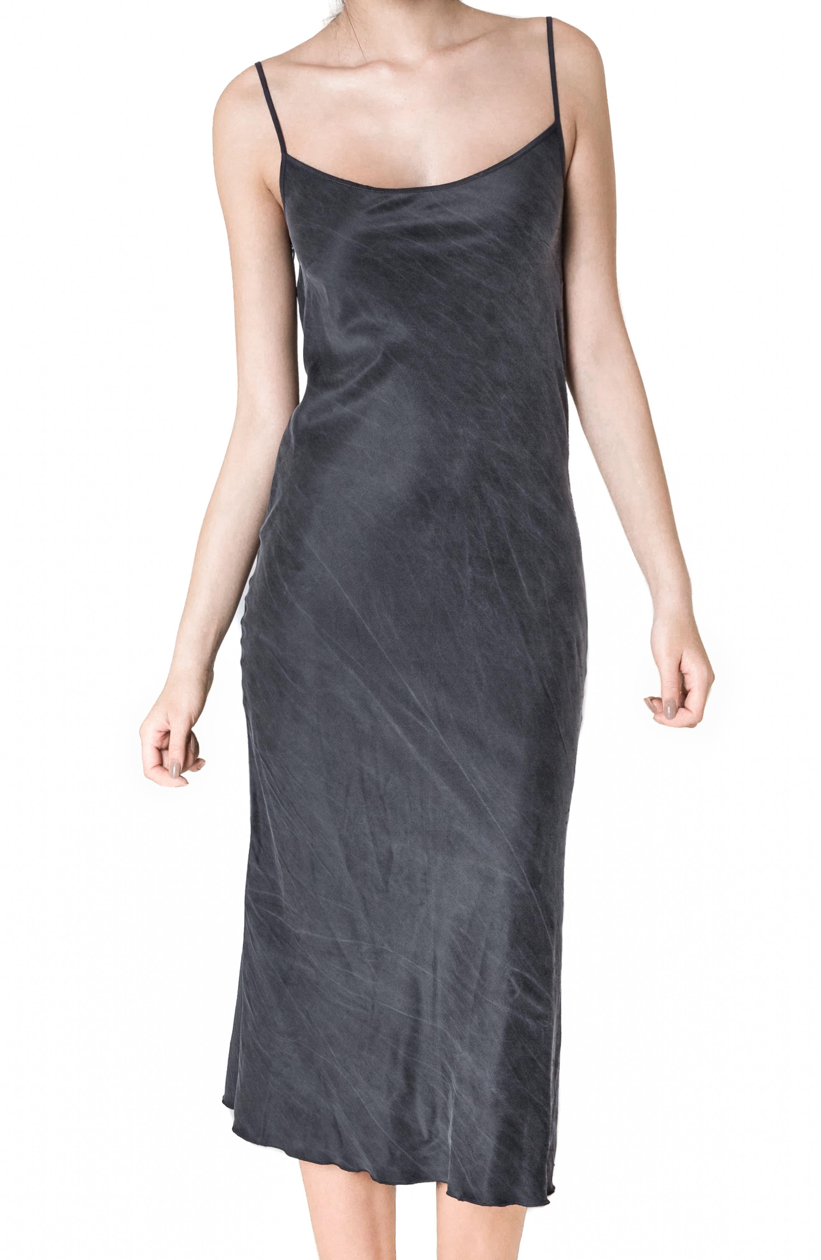 Silk Slipdress,                         Main,                         color, 001