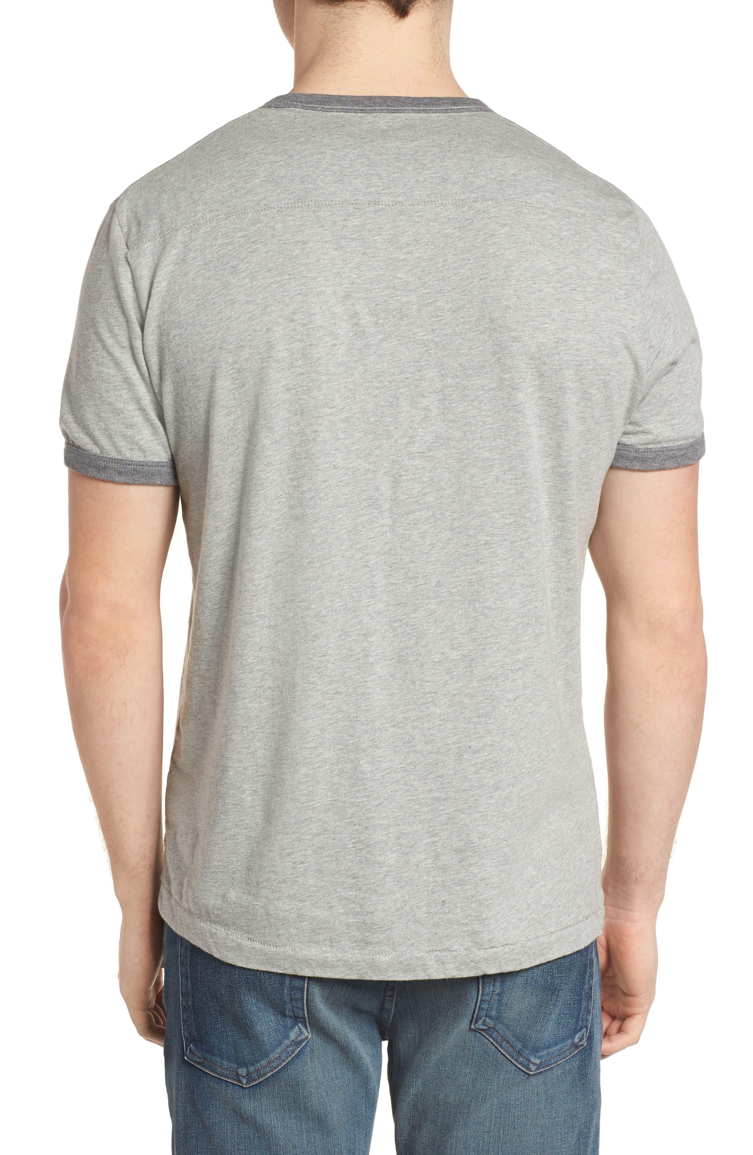 Bens Slim Fit Ringer T-Shirt,                             Alternate thumbnail 2, color,                             032