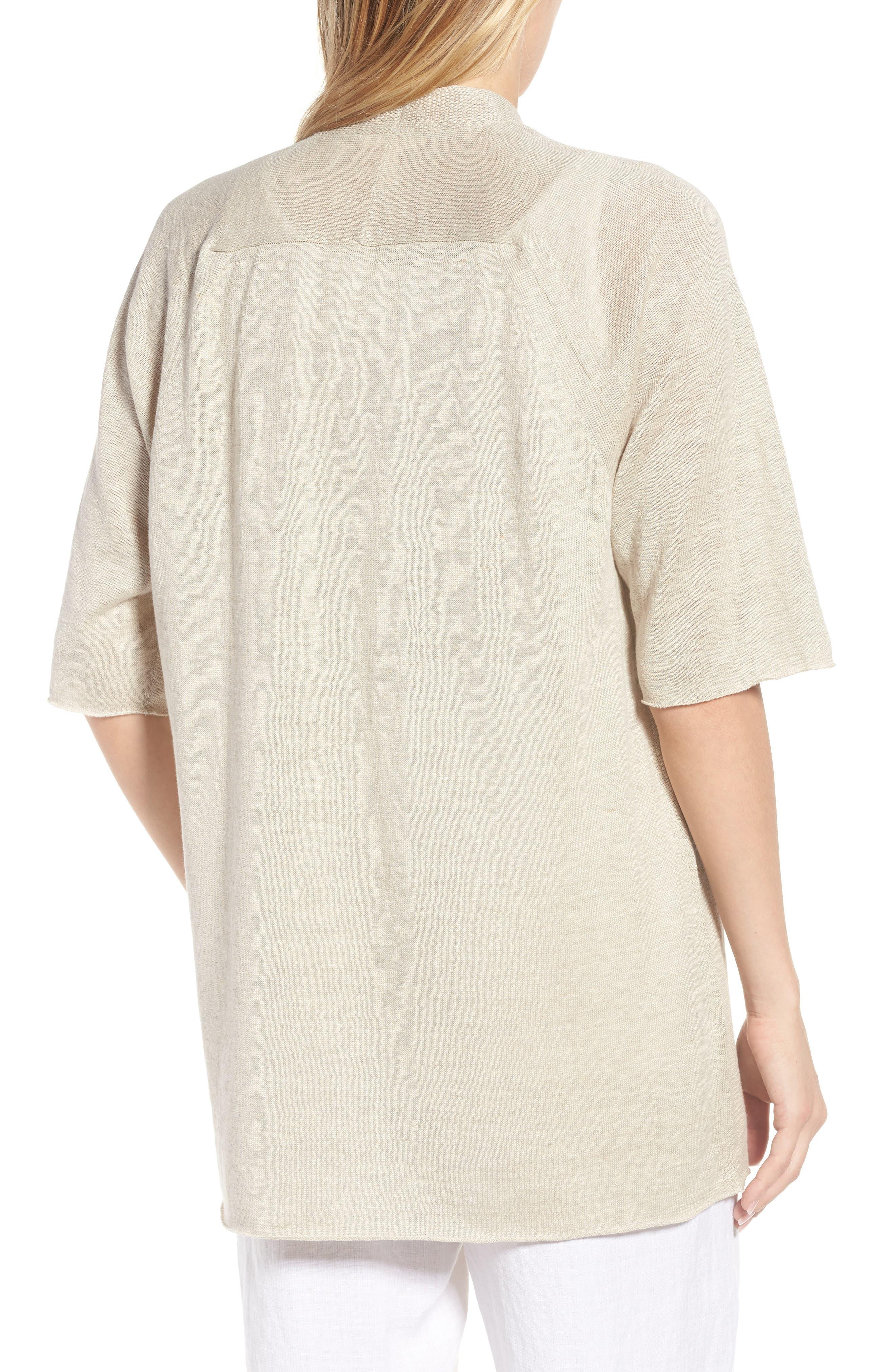 Organic Linen Cardigan,                             Alternate thumbnail 8, color,