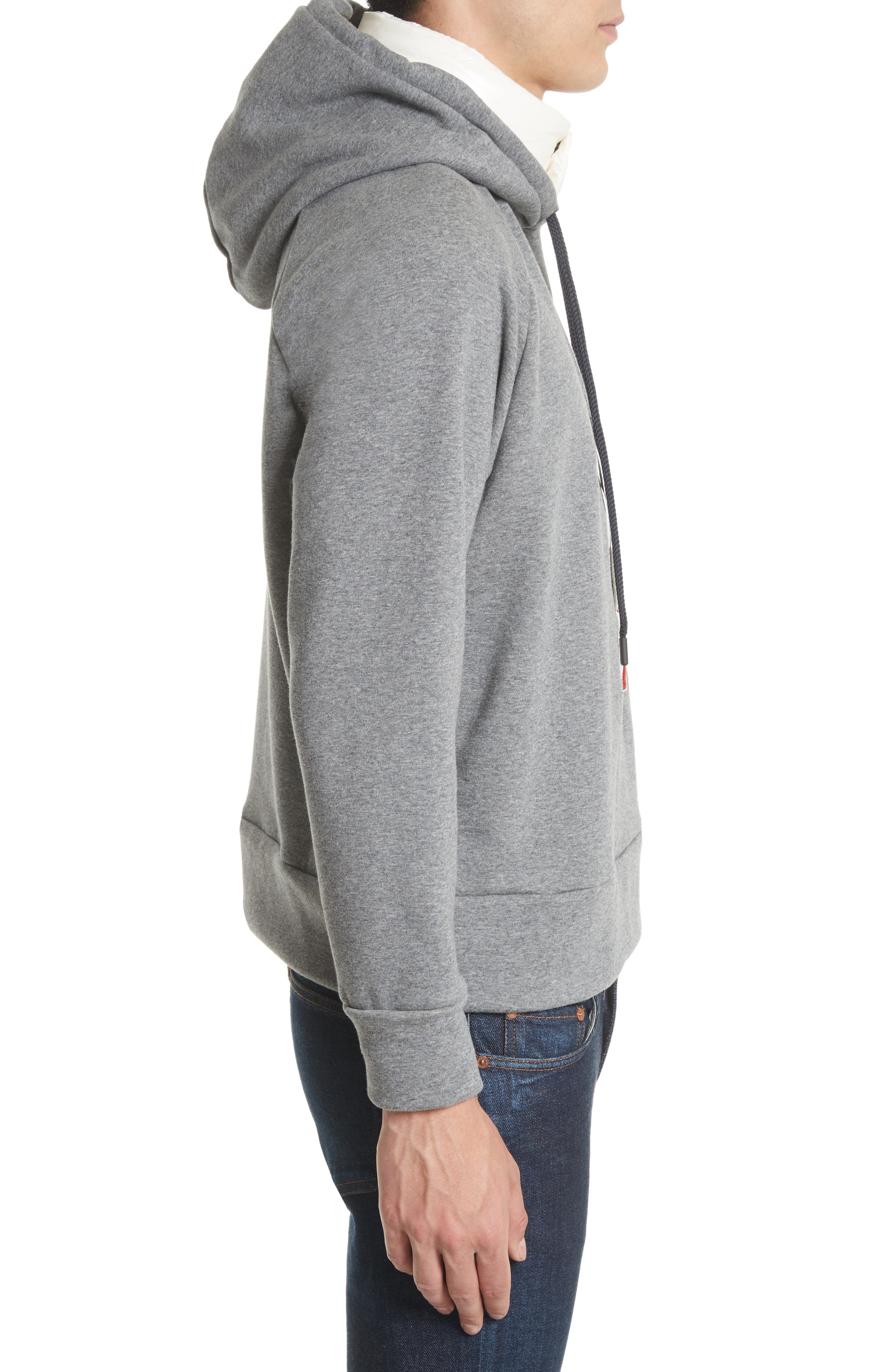 Grenoble Logo Patch Hooded Sweatshirt,                             Alternate thumbnail 3, color,                             021