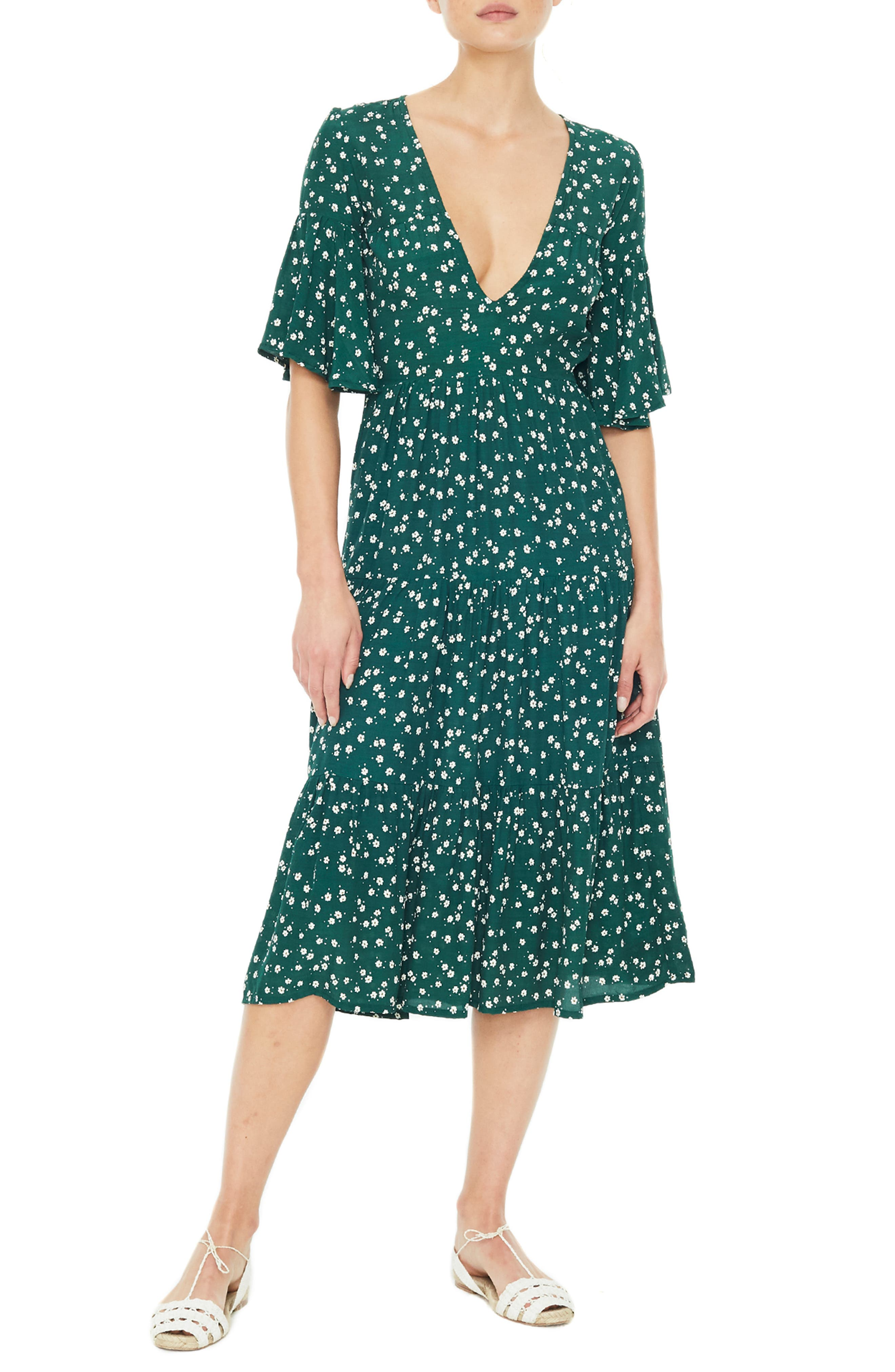 Melia Floral Print Midi Dress by Faithfull The Brand