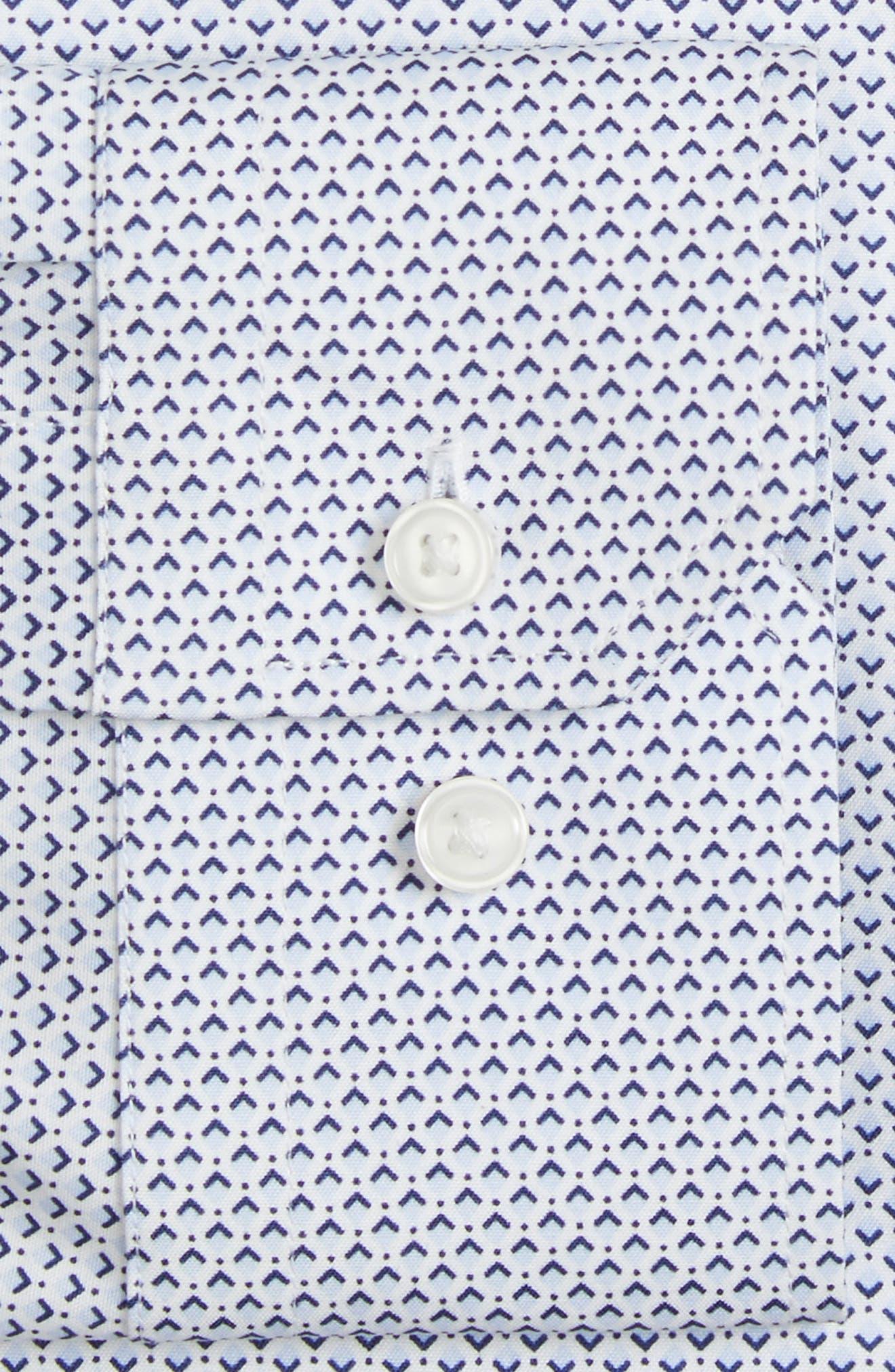 CALIBRATE,                             Trim Fit Stretch Geometric Dress Shirt,                             Alternate thumbnail 3, color,                             420