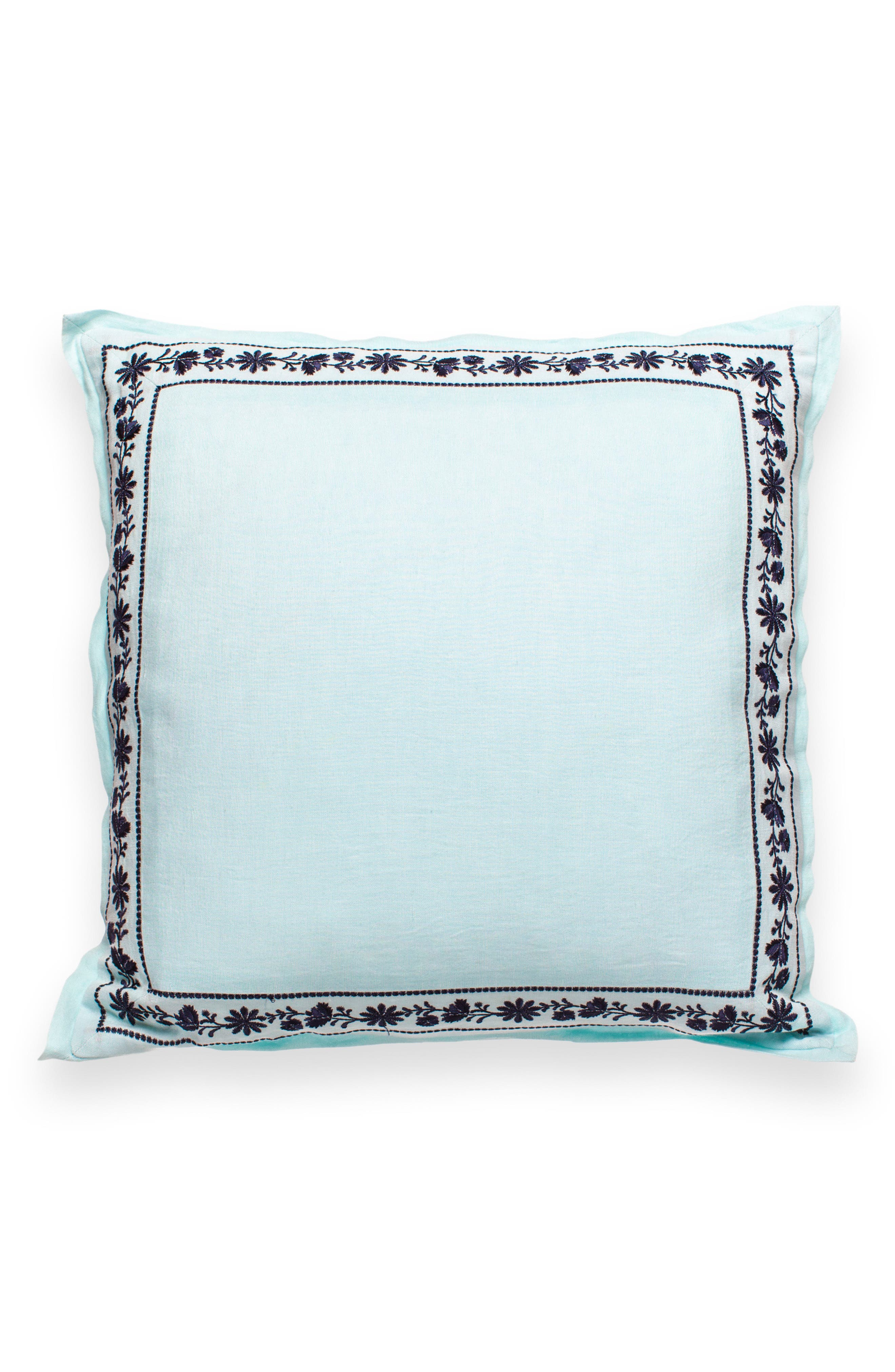 KATE SPADE NEW YORK otami embroidered accent pillow, Main, color, 300
