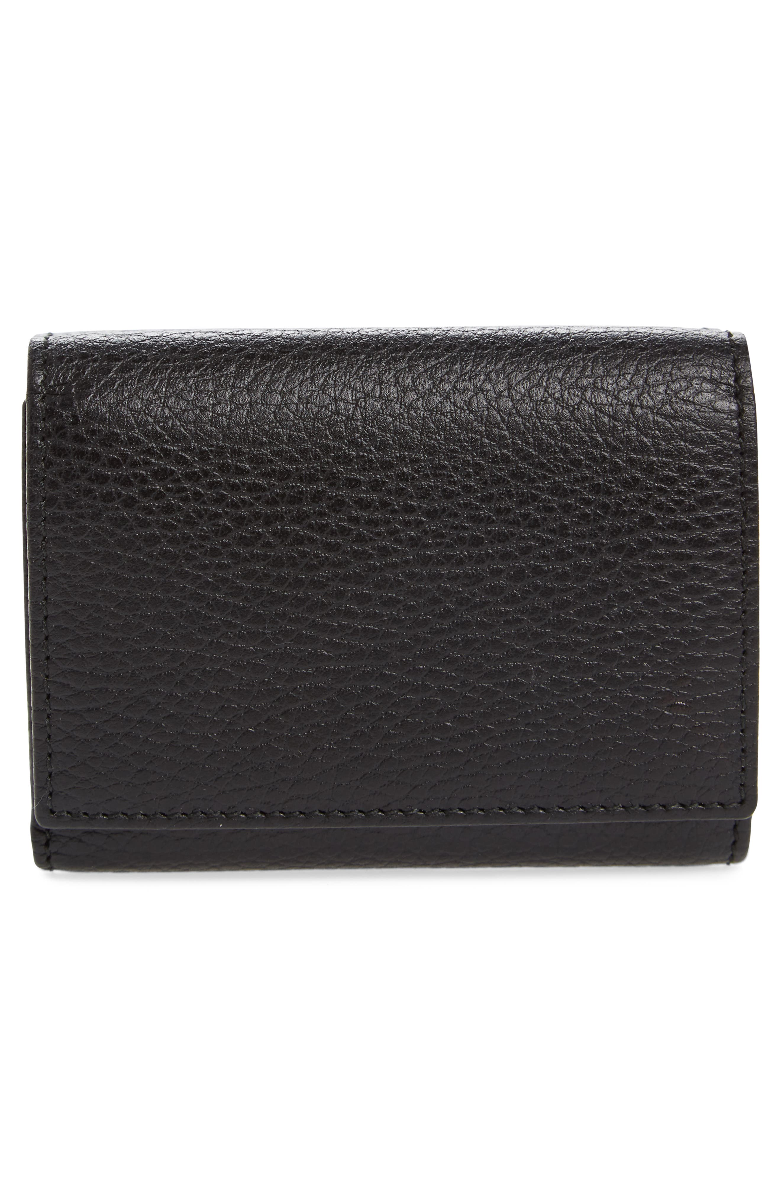 Petite Marmont Leather French Wallet,                             Alternate thumbnail 3, color,