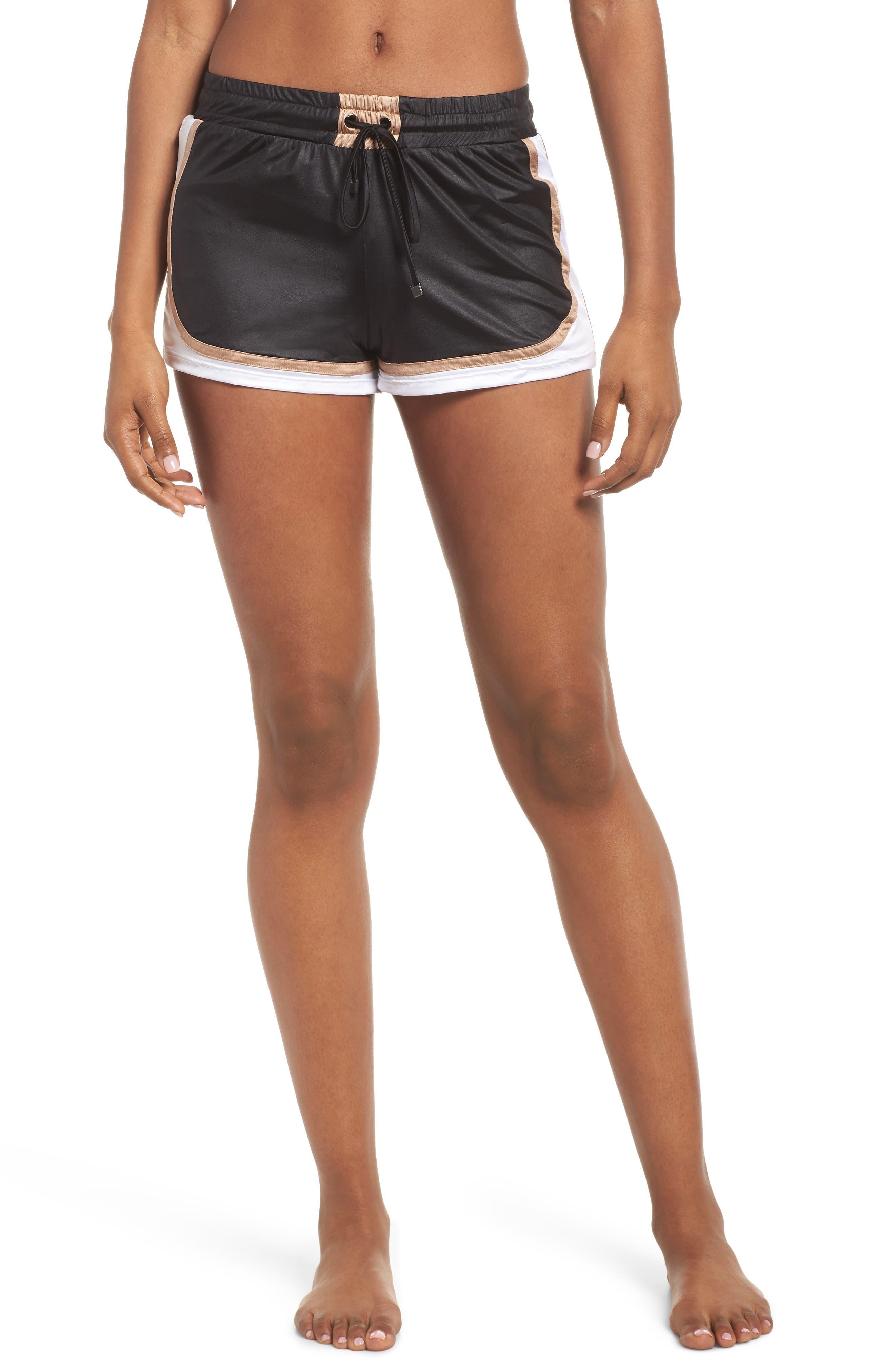 Blackout Shorts,                         Main,                         color, BLACK/ NUDE/ WHITE