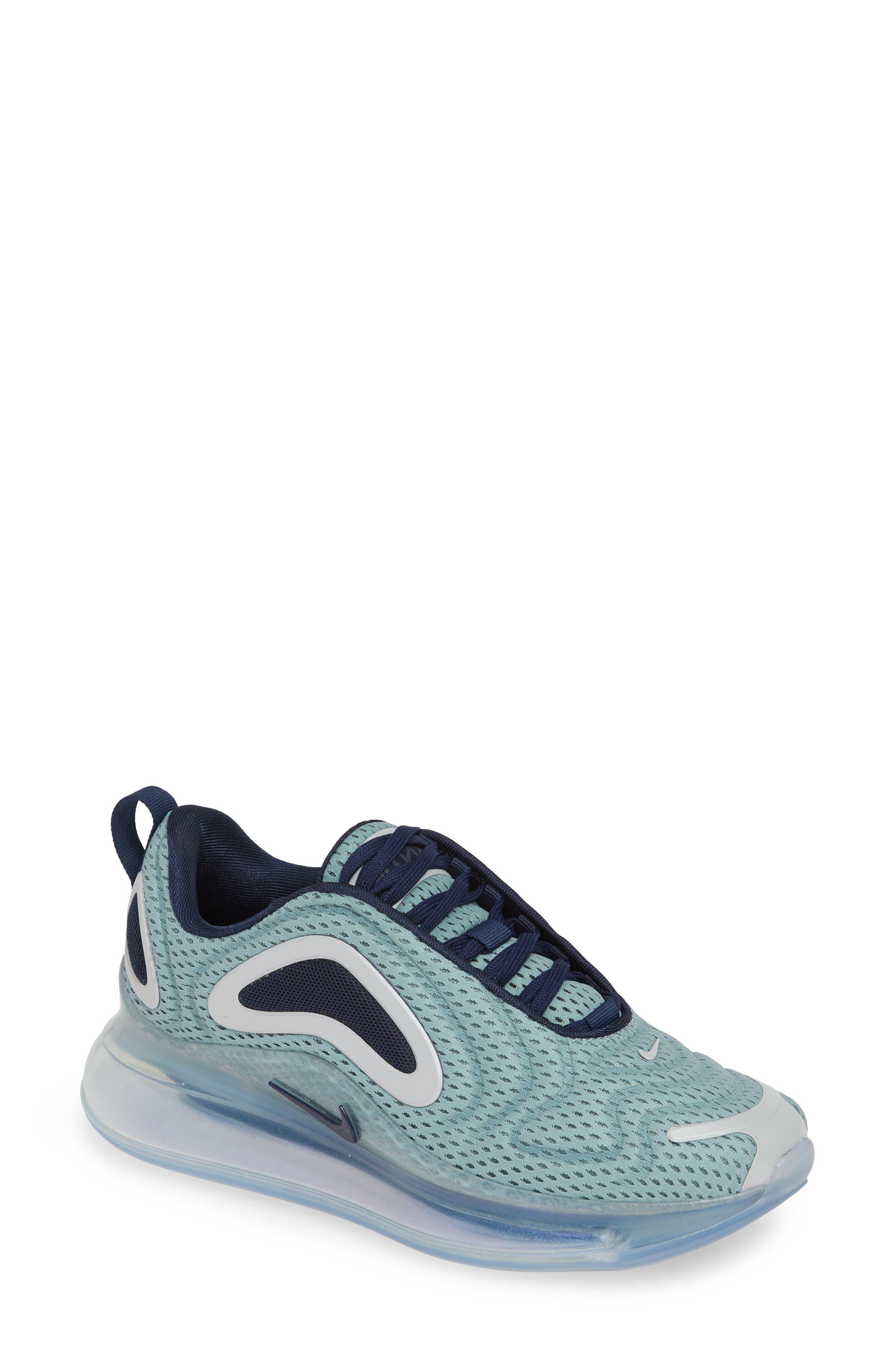 Air Max 720 Sneaker, Main, color, METALLIC SILVER/ MIDNIGHT NAVY