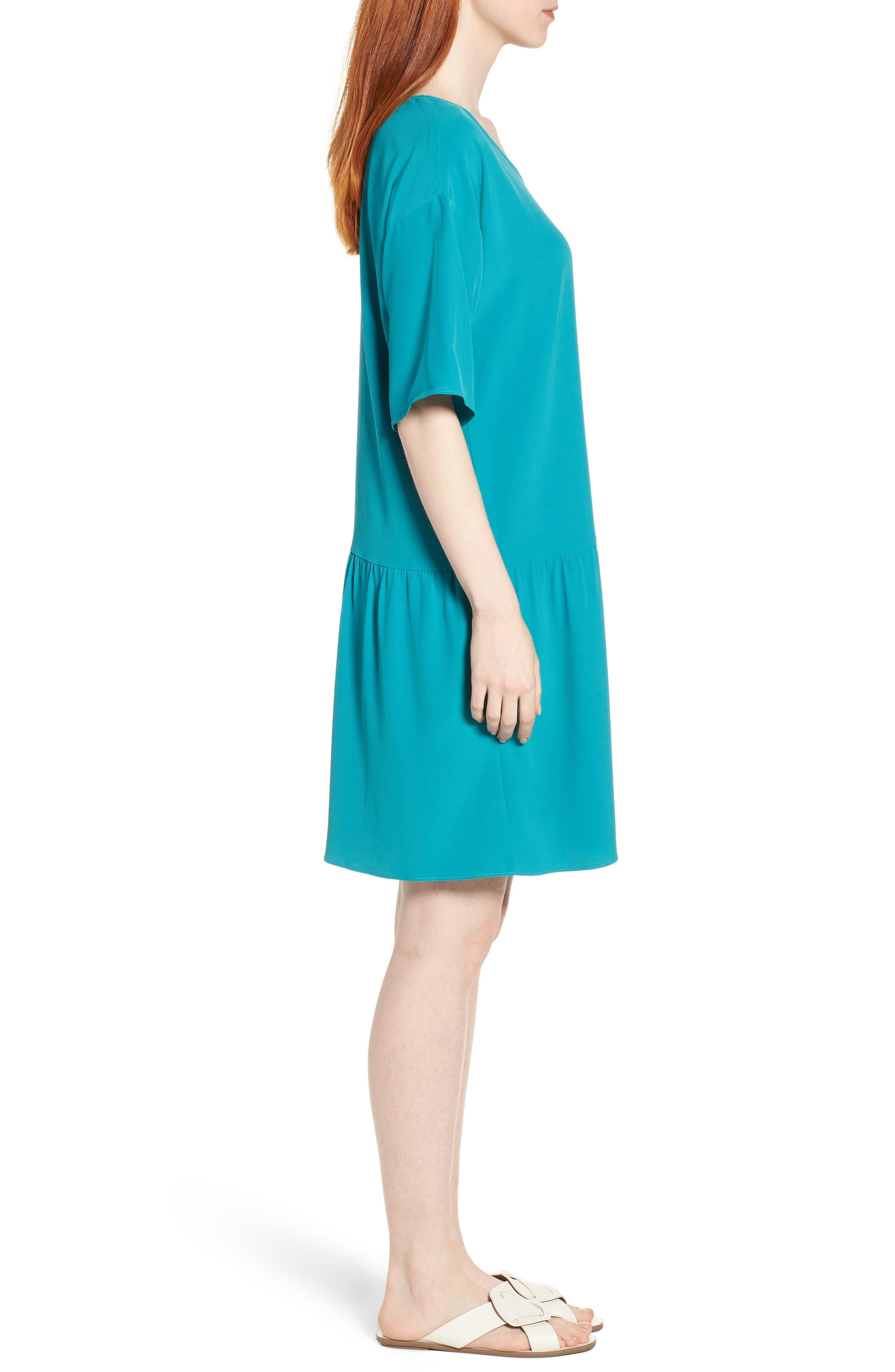 Drop Waist Tencel<sup>®</sup> Lyocell Blend Dress,                             Alternate thumbnail 12, color,