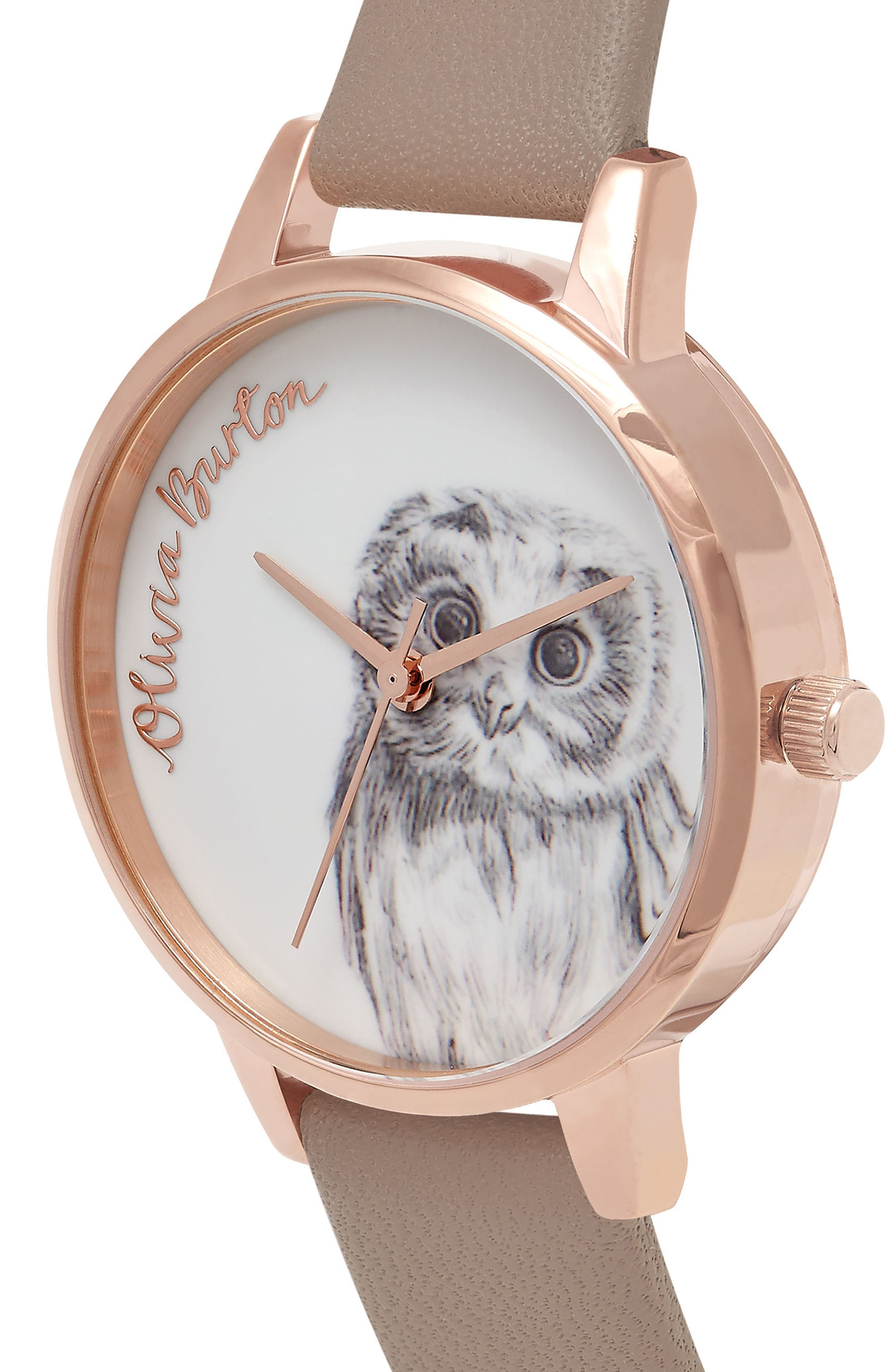 Animal Motif Leather Strap Watch, 30mm,                             Alternate thumbnail 15, color,