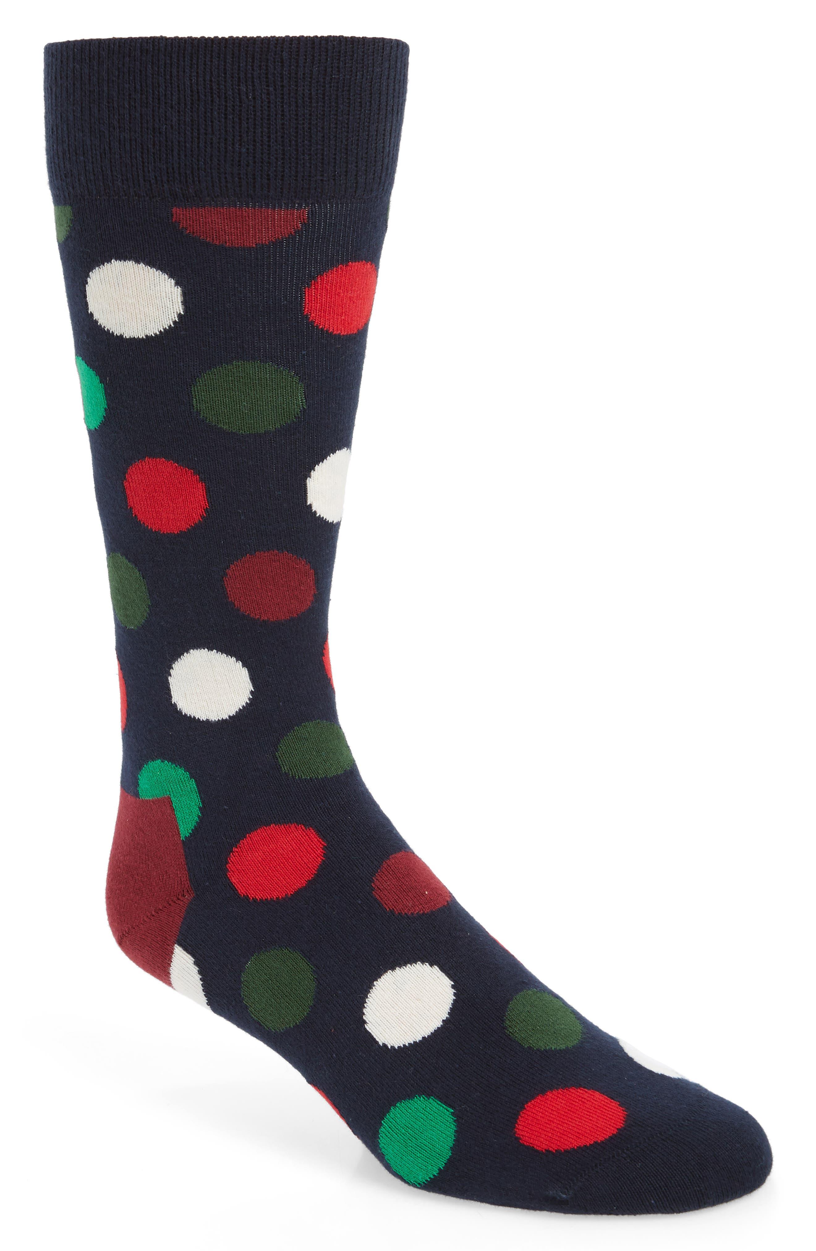 Big Dot Holiday Socks,                             Main thumbnail 1, color,                             NAVY MULTI
