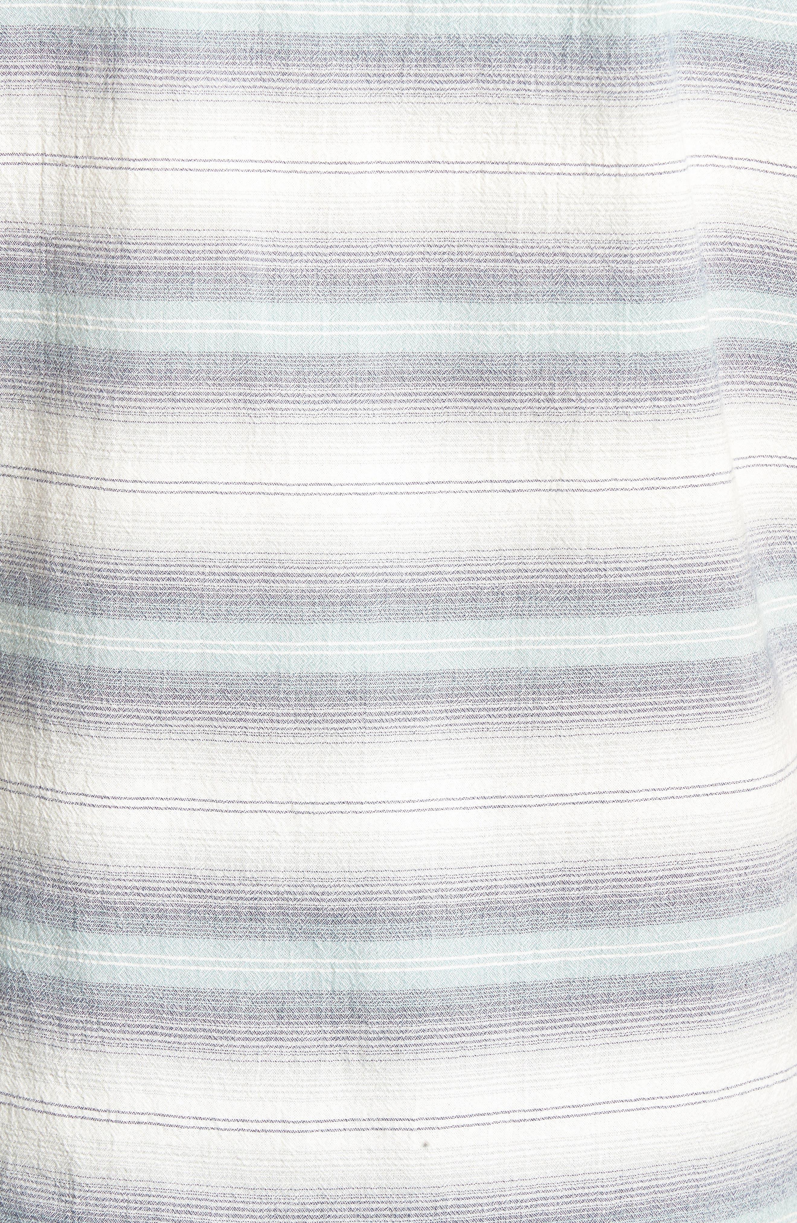 Gibson Regular Fit Textured Stripe Sport Shirt,                             Alternate thumbnail 5, color,                             033