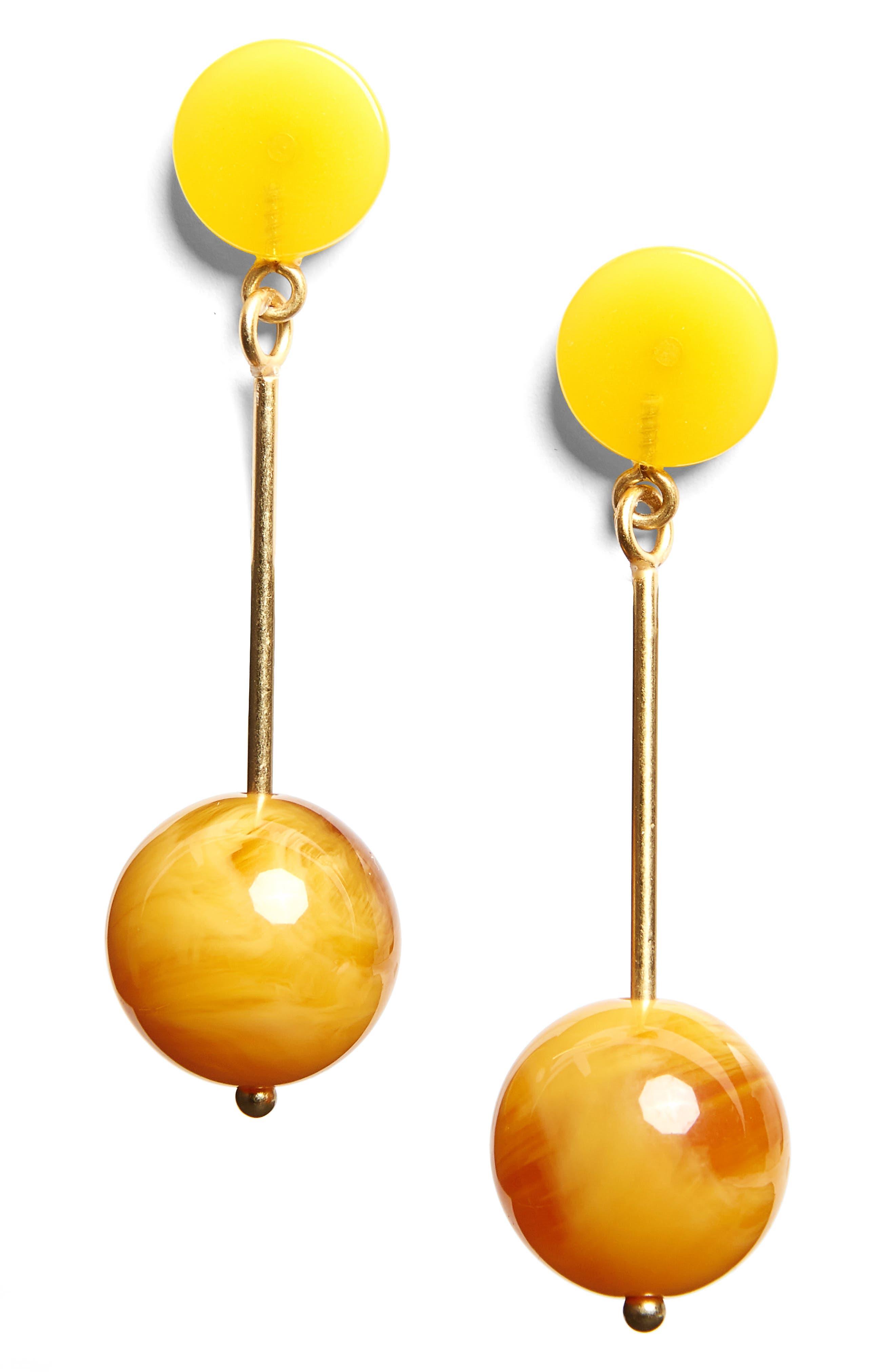 Curveball Drop Earrings,                             Main thumbnail 1, color,                             710