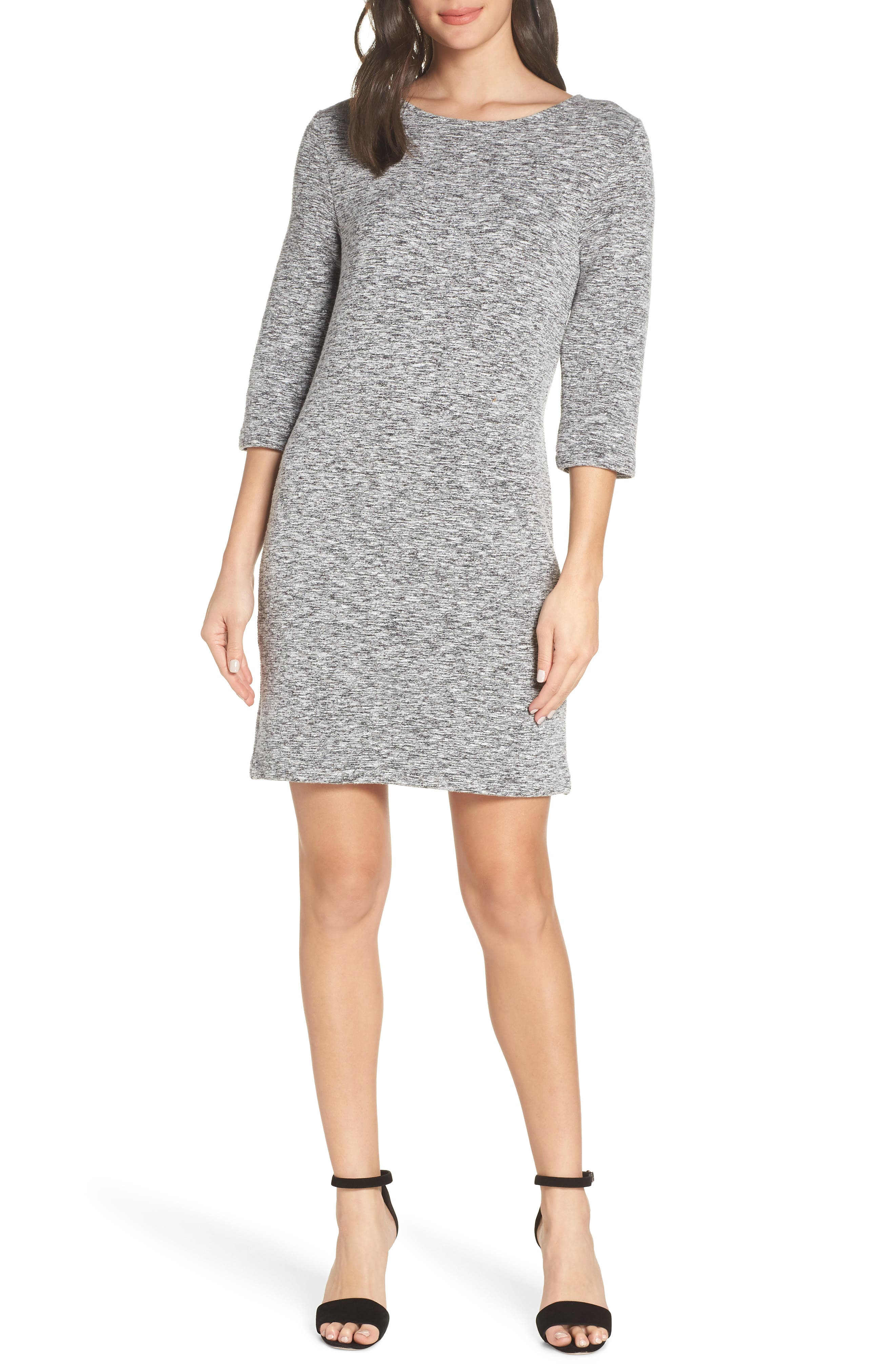 French Connection Laurelle Ottoman Knit Dress, Grey