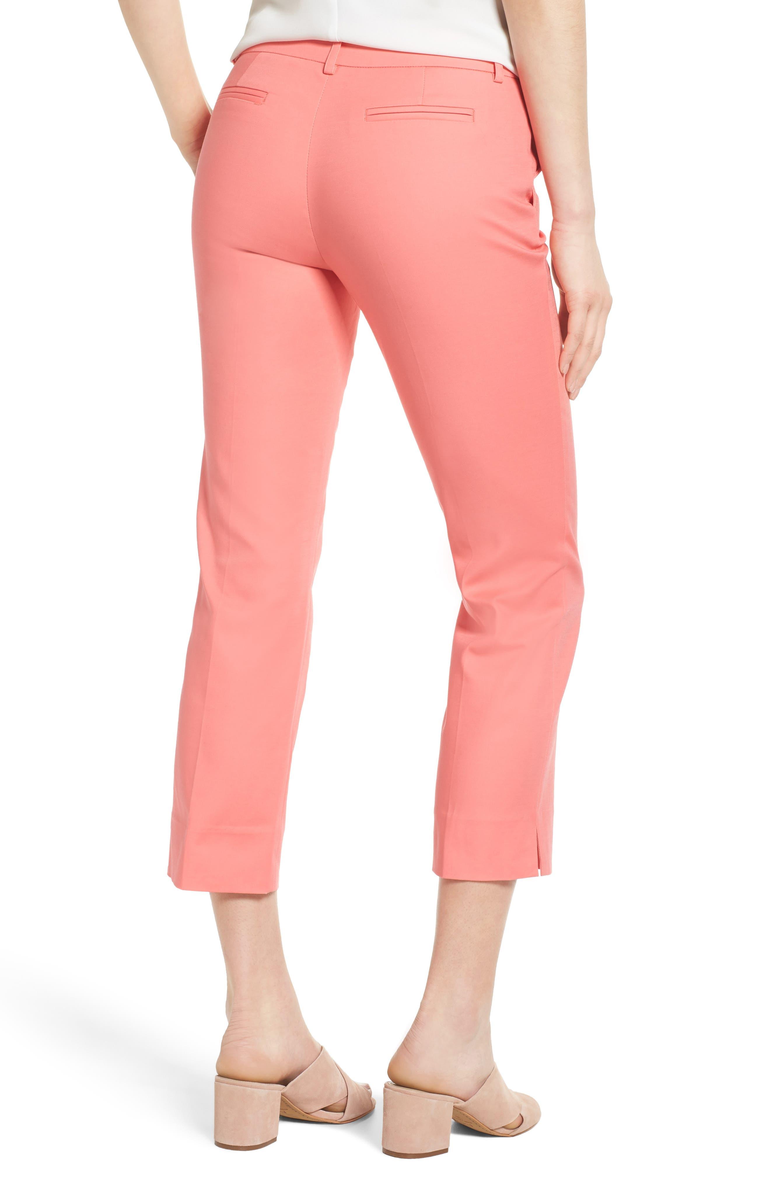 Crop Stretch Cotton Pants,                             Alternate thumbnail 45, color,
