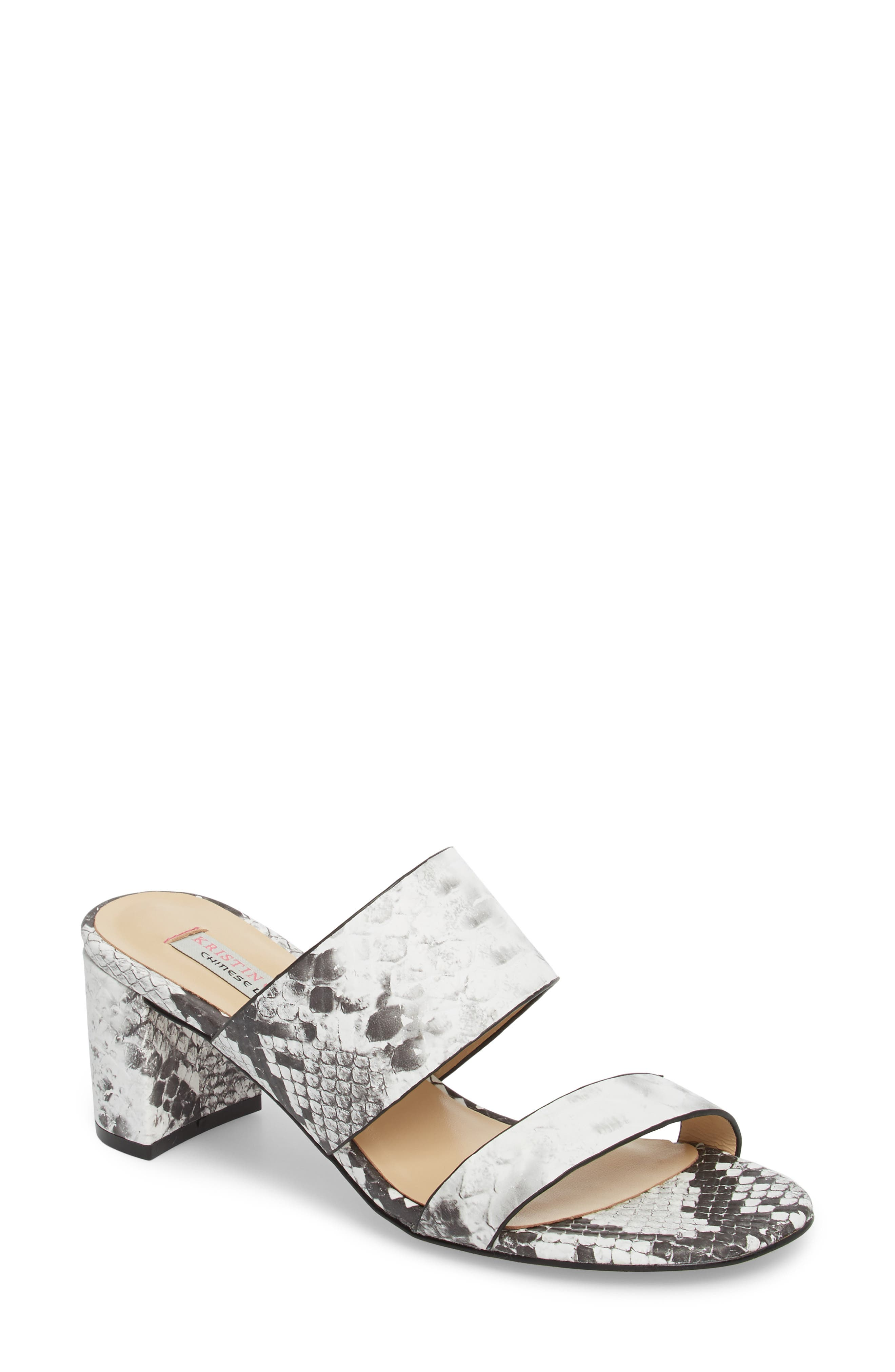 Lakeview Sandal,                         Main,                         color, GREY/ WHITE PRINT LEATHER