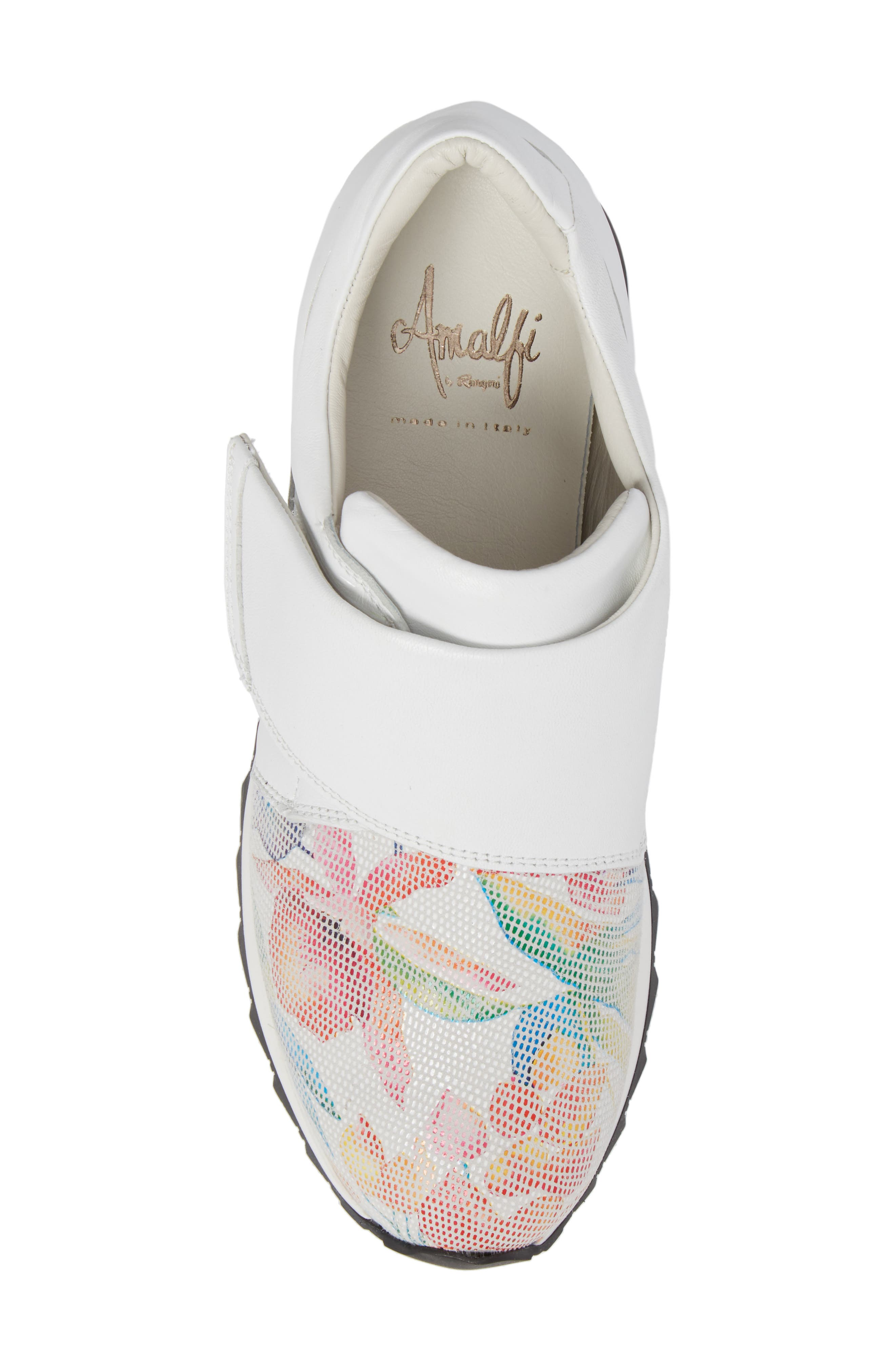 Danza Wedge Sneaker,                             Alternate thumbnail 5, color,                             WHITE LEATHER