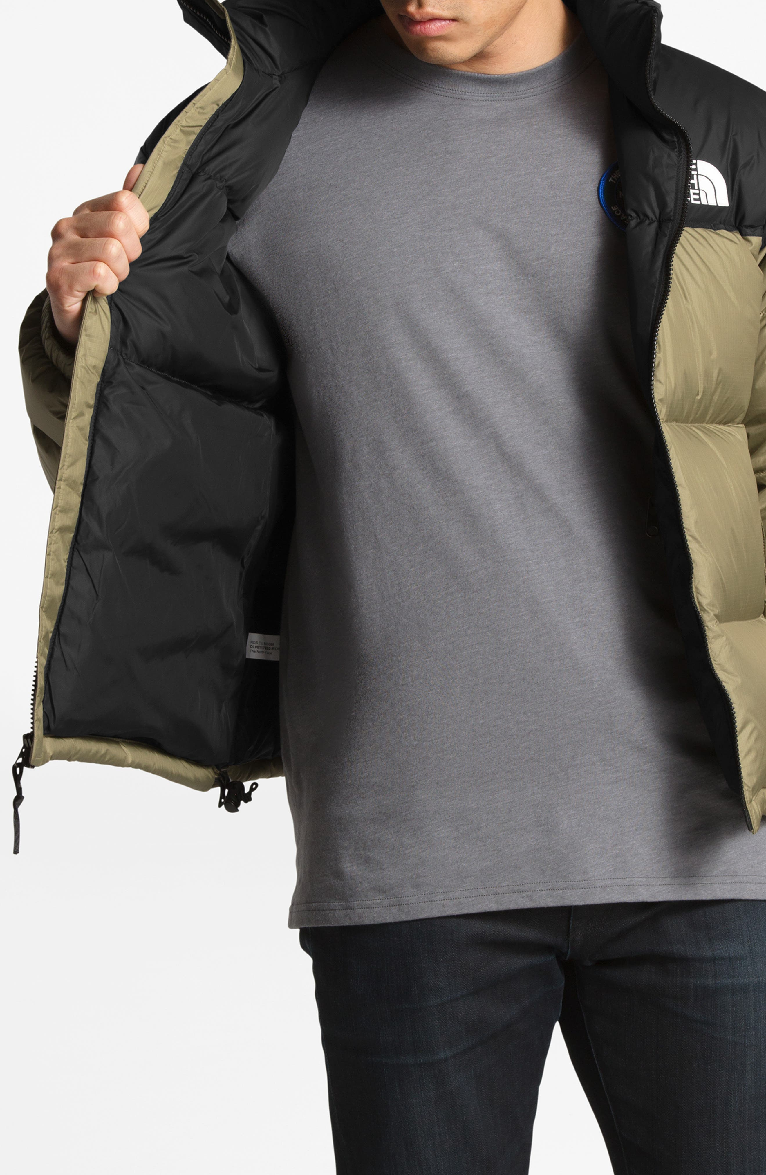 Nuptse 1996 Packable Quilted Down Jacket,                             Alternate thumbnail 8, color,                             TUMBLEWEED GREEN