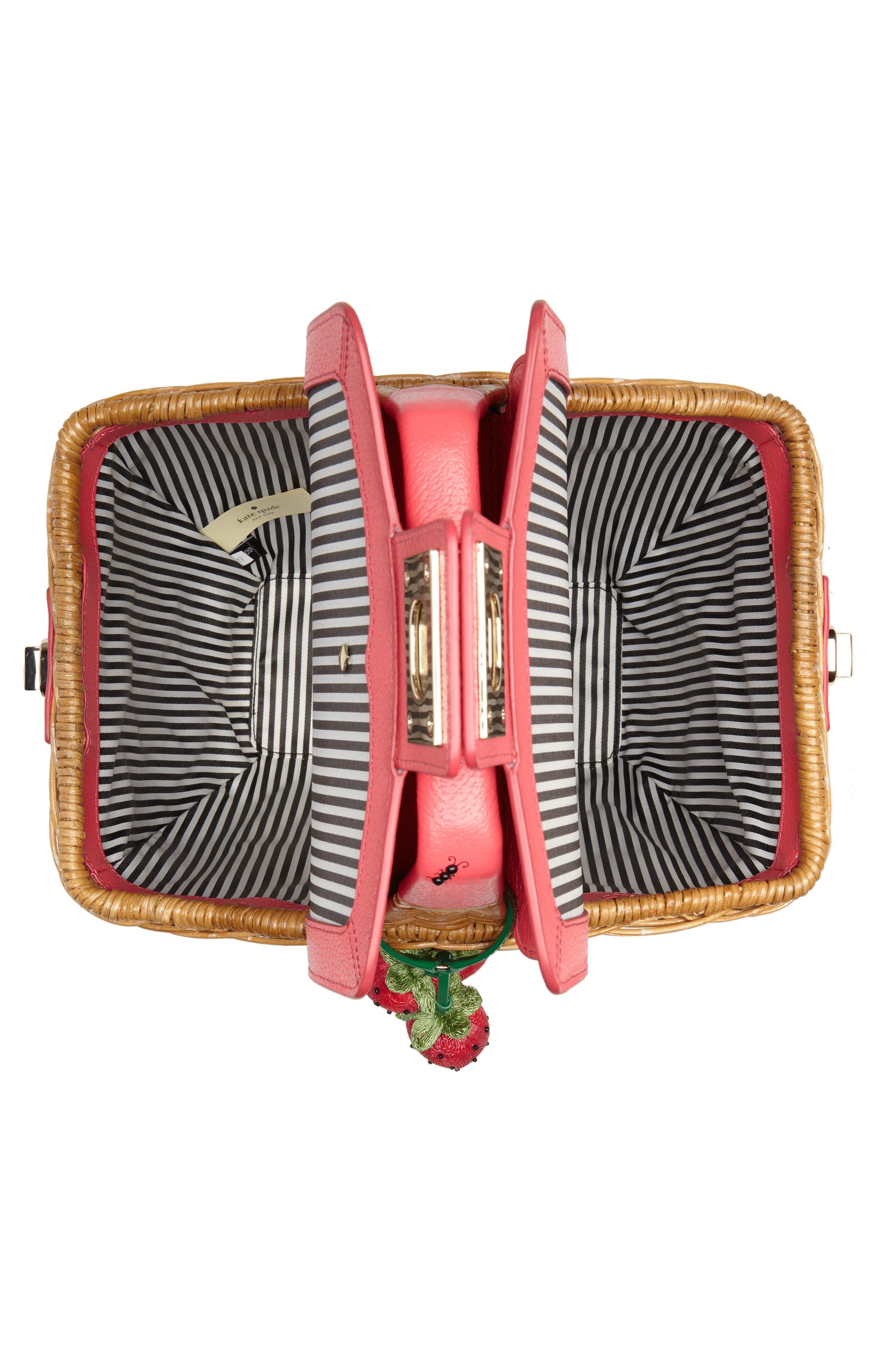 picnic perfect 3D wicker picnic basket,                             Alternate thumbnail 4, color,