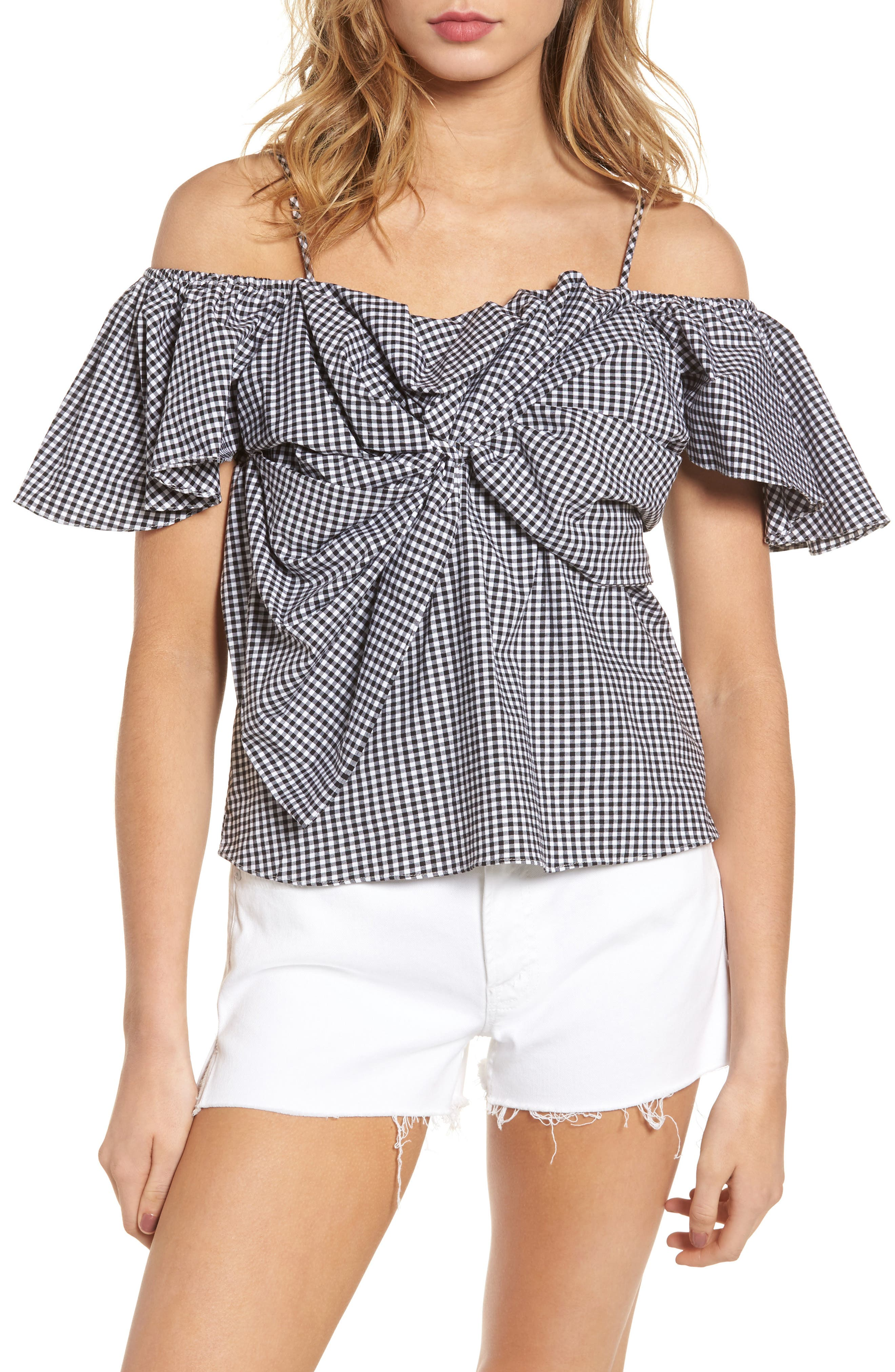 Gaelle Off the Shoulder Top,                         Main,                         color,