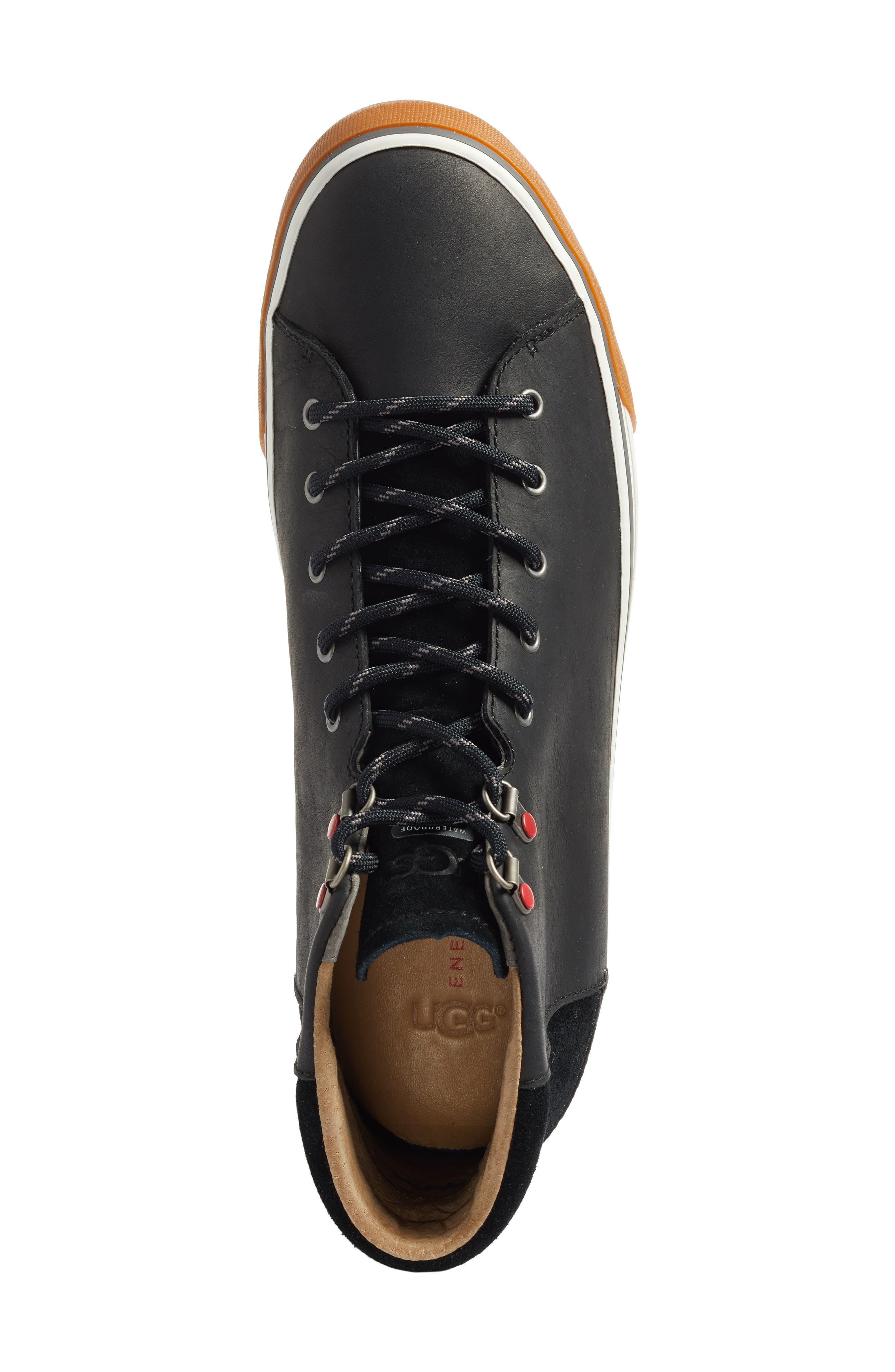 Hoyt High Top Sneaker,                             Alternate thumbnail 5, color,                             001