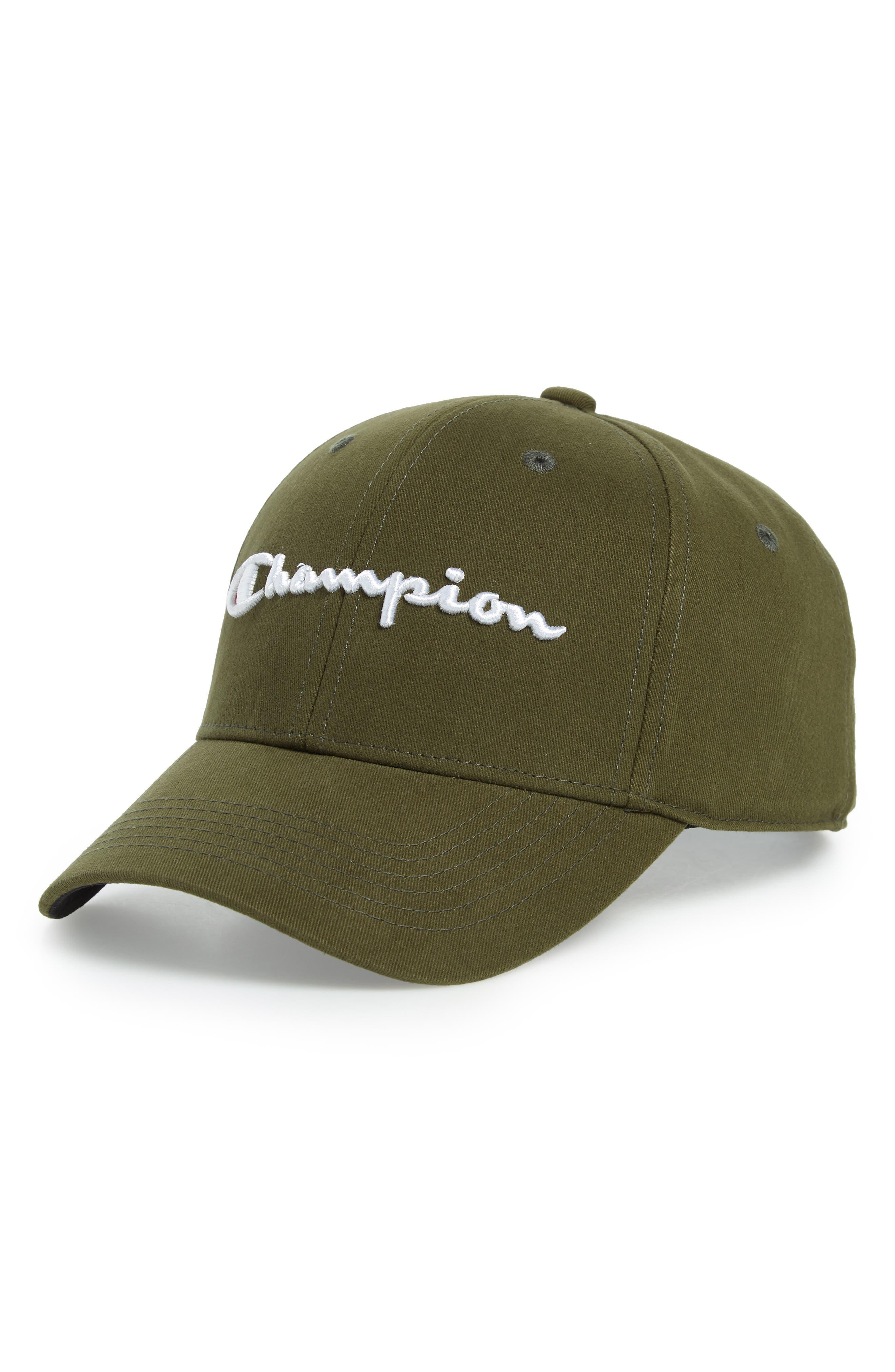 Classic Script Baseball Cap,                         Main,                         color, HIKER GREEN