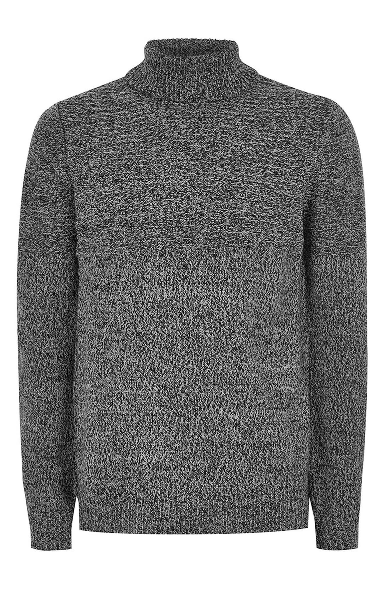 Twist Roll Neck Sweater,                             Alternate thumbnail 3, color,