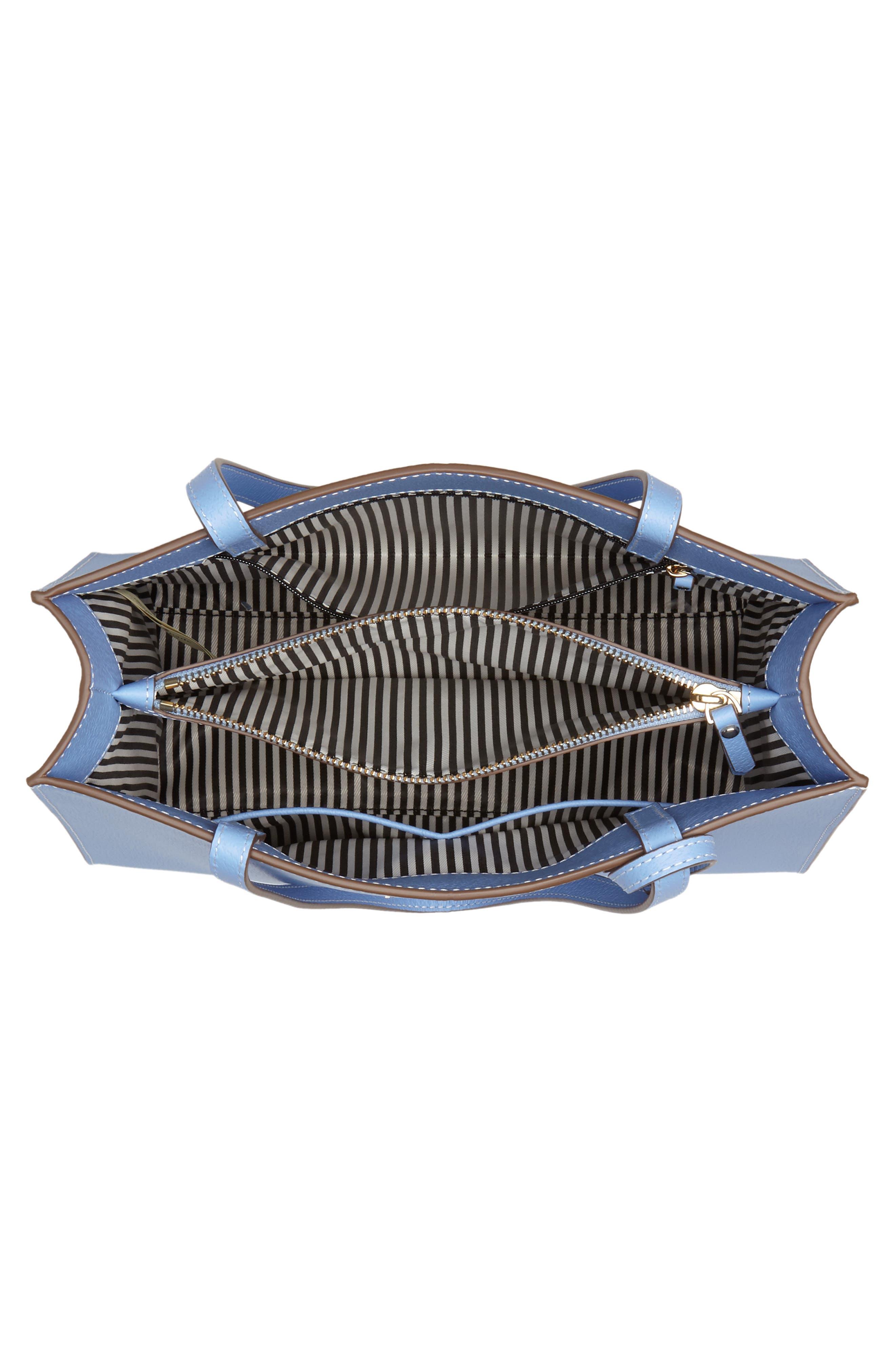 thompson street - large sam leather handbag,                             Alternate thumbnail 8, color,