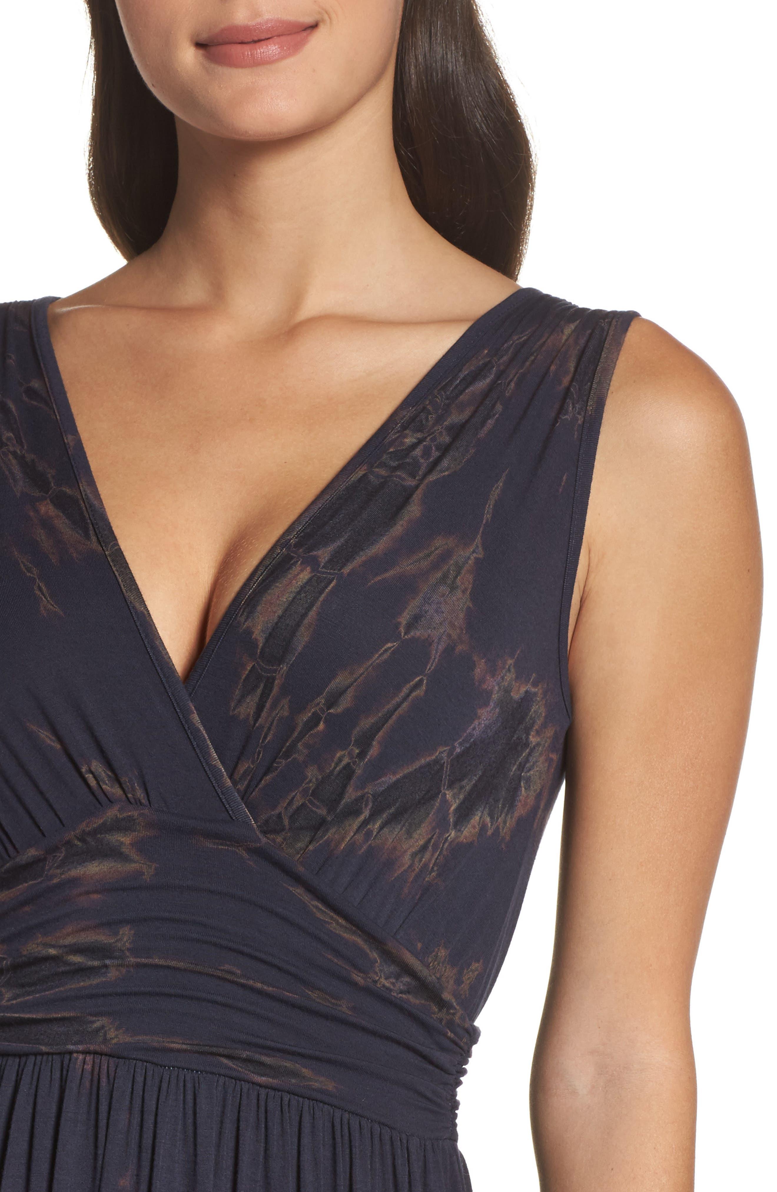 Tie Dye Ombré Jersey Maxi Dress,                             Alternate thumbnail 4, color,                             400