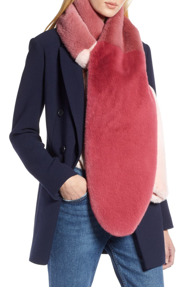 Halogen® x Atlantic-Pacific Colorblock Faux Fur Stole | Nordstrom
