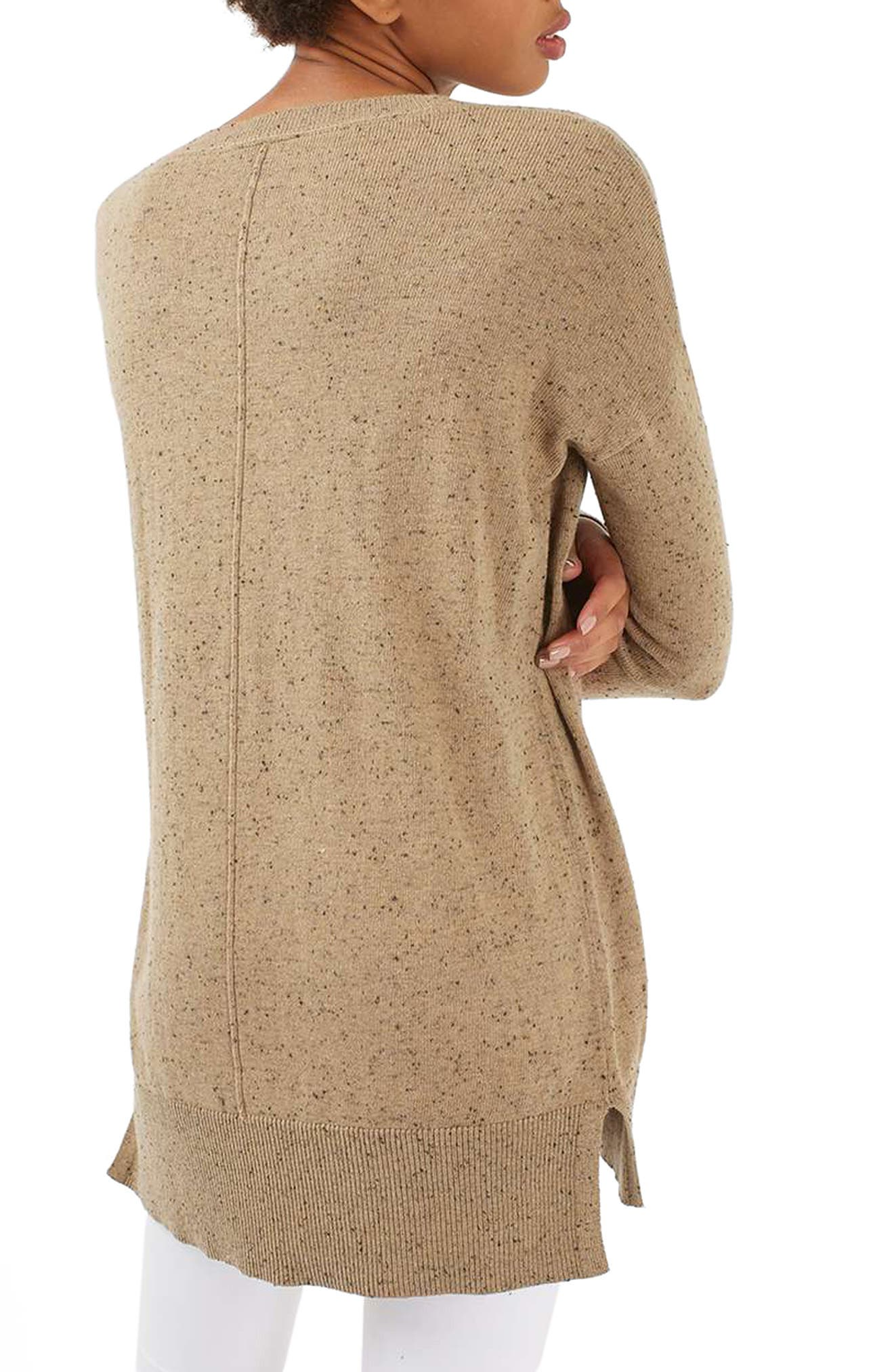 Lace V-Neck Sweater Tunic,                             Alternate thumbnail 3, color,                             230
