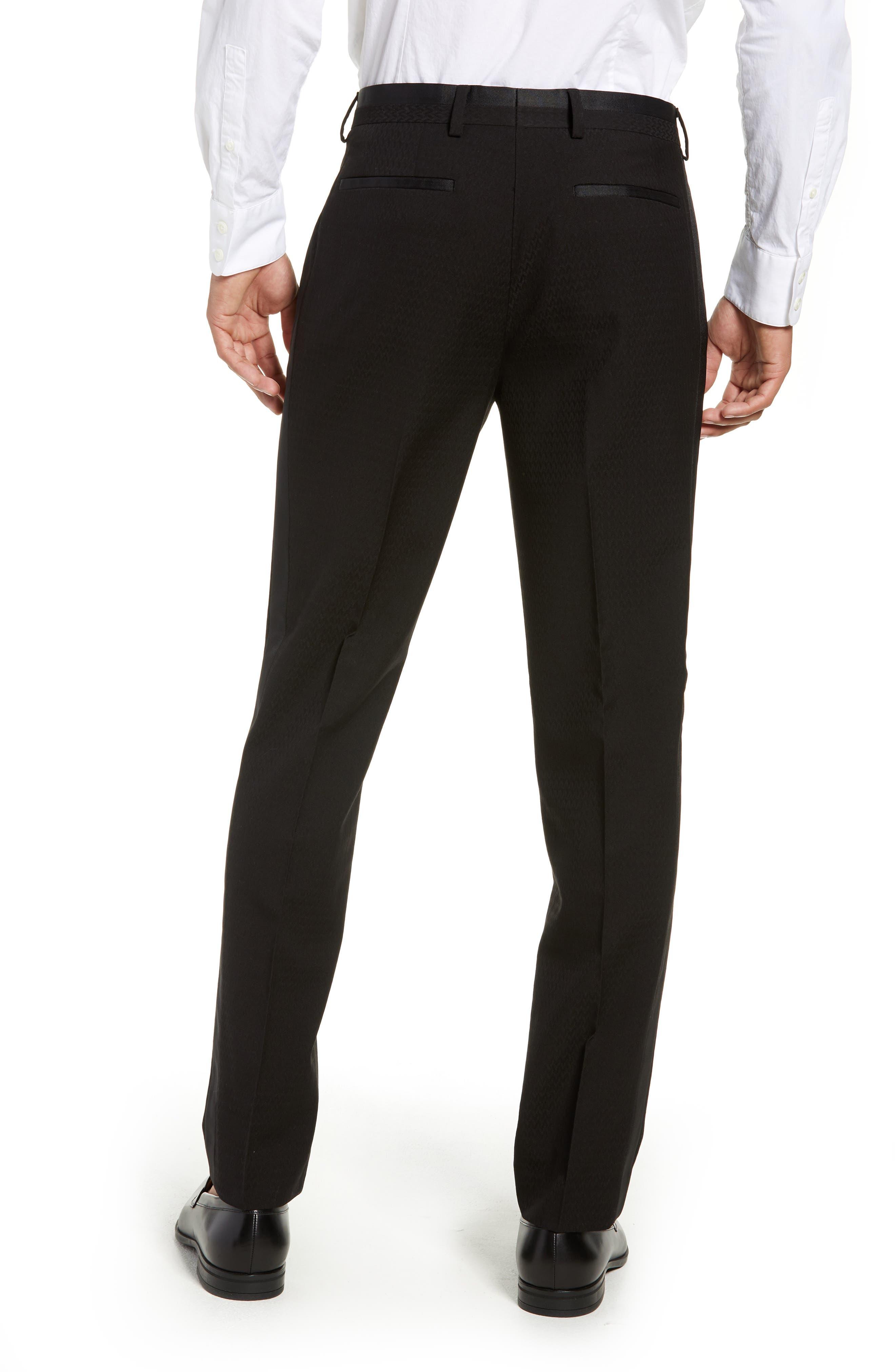 Kingley Slim Fit Tuxedo Pants,                             Alternate thumbnail 2, color,                             BLACK
