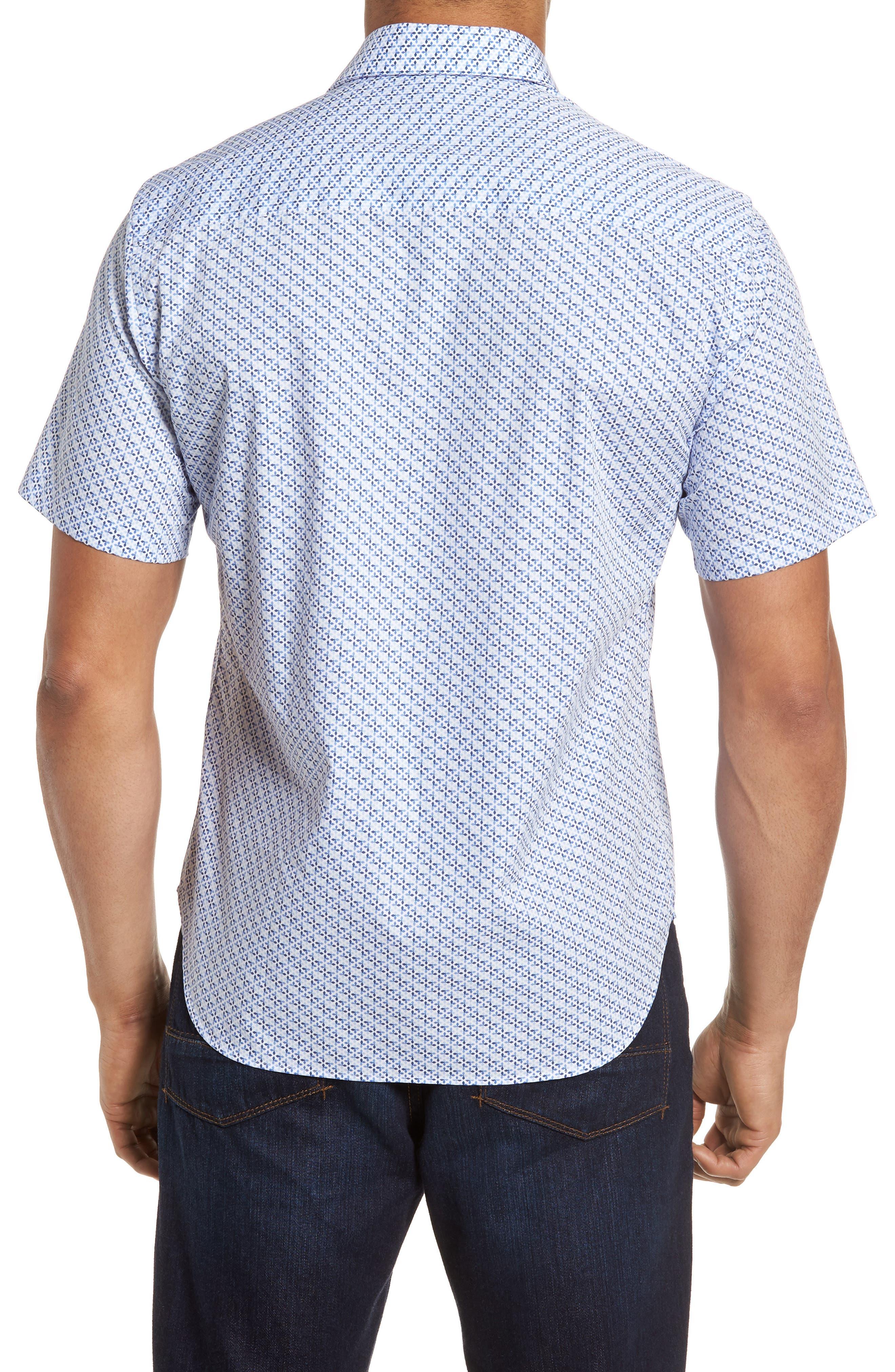 Shiloh Regular Fit Print Sport Shirt,                             Alternate thumbnail 2, color,