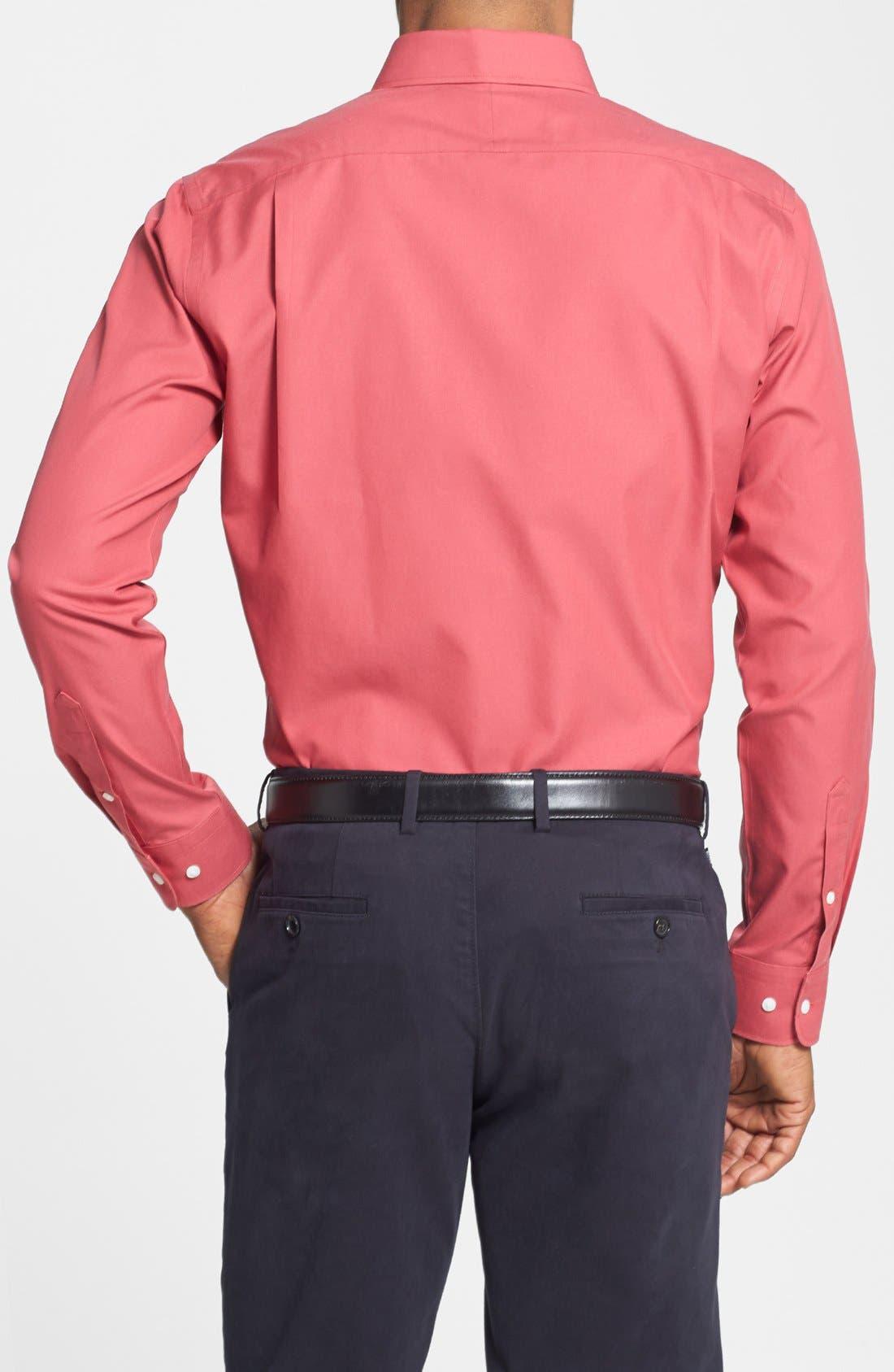 Smartcare<sup>™</sup> Trim Fit Solid Dress Shirt,                             Alternate thumbnail 42, color,