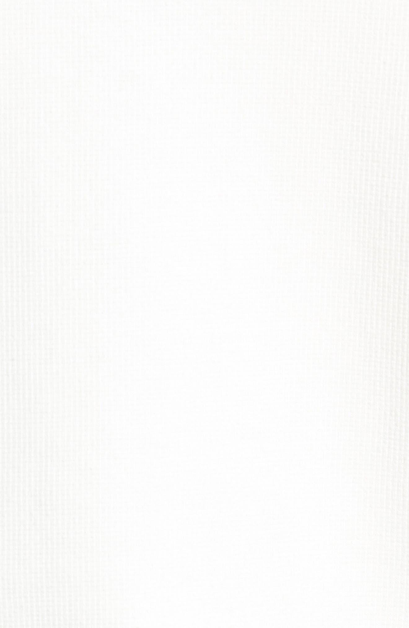 Colorblock Long Sleeve Polo,                             Alternate thumbnail 5, color,                             SNOW WHITE