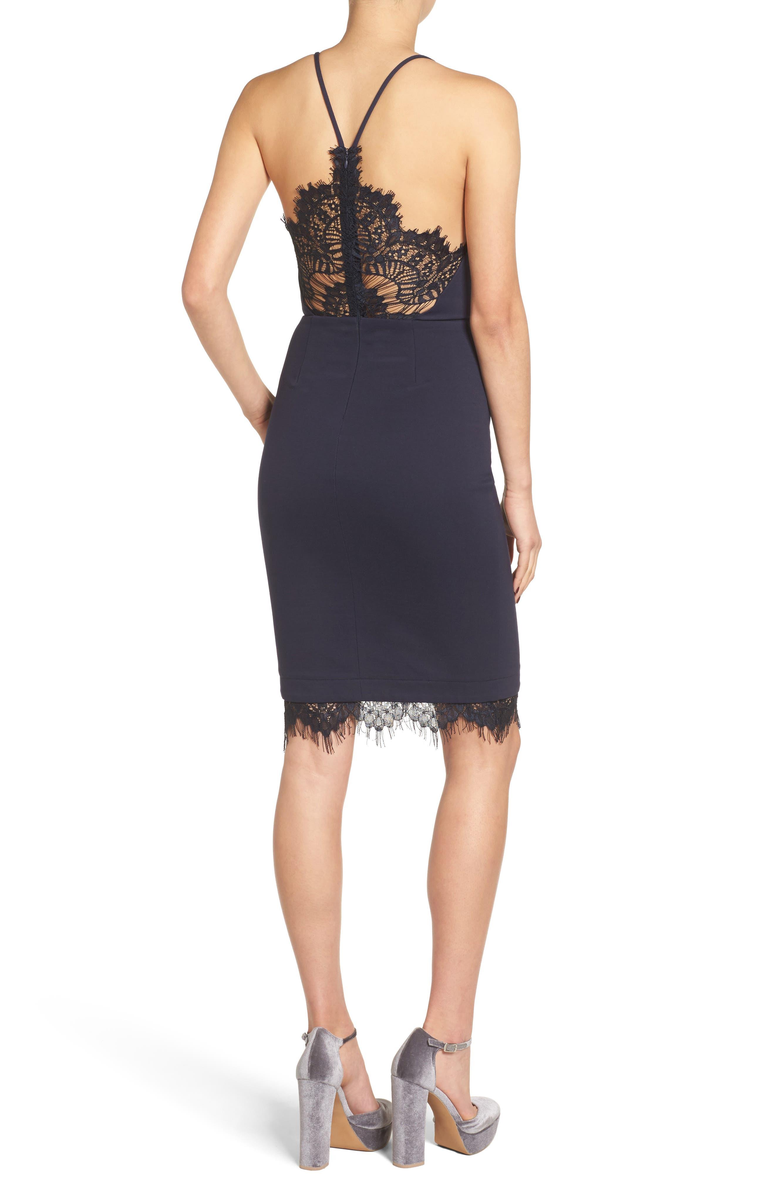 Lace Body-Con Dress,                             Alternate thumbnail 12, color,